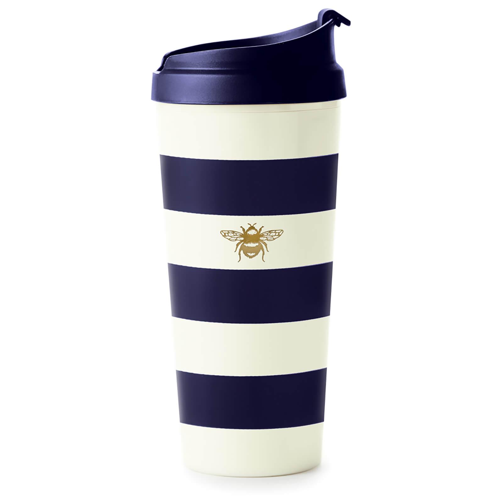 Kate Spade New York Kate Spade Thermal Mug - Navy Stripe With Bee