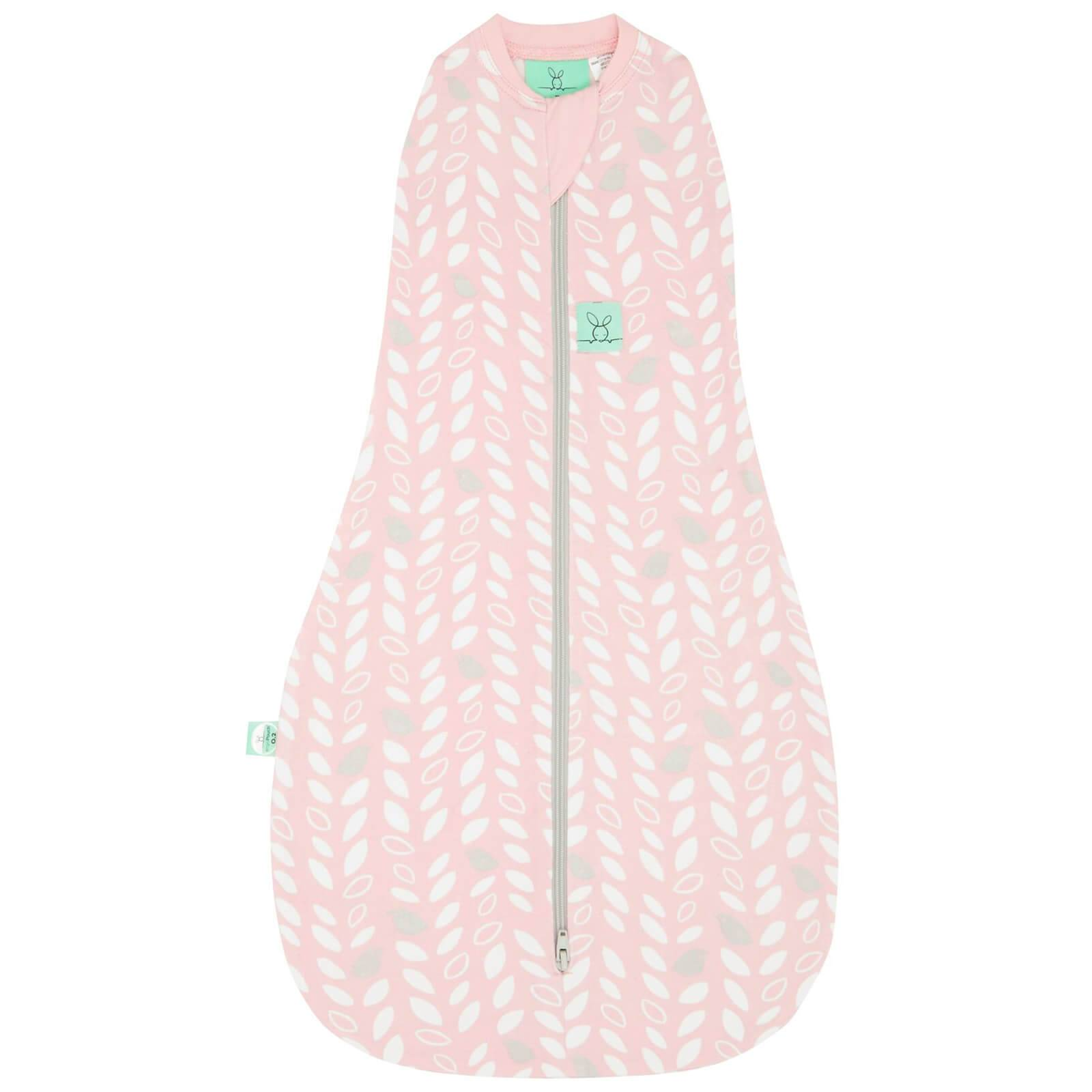 ergoPouch Cocoon Swaddle and Sleep Bag - 1 Tog - Spring Leaves - 0-3 months - Pink