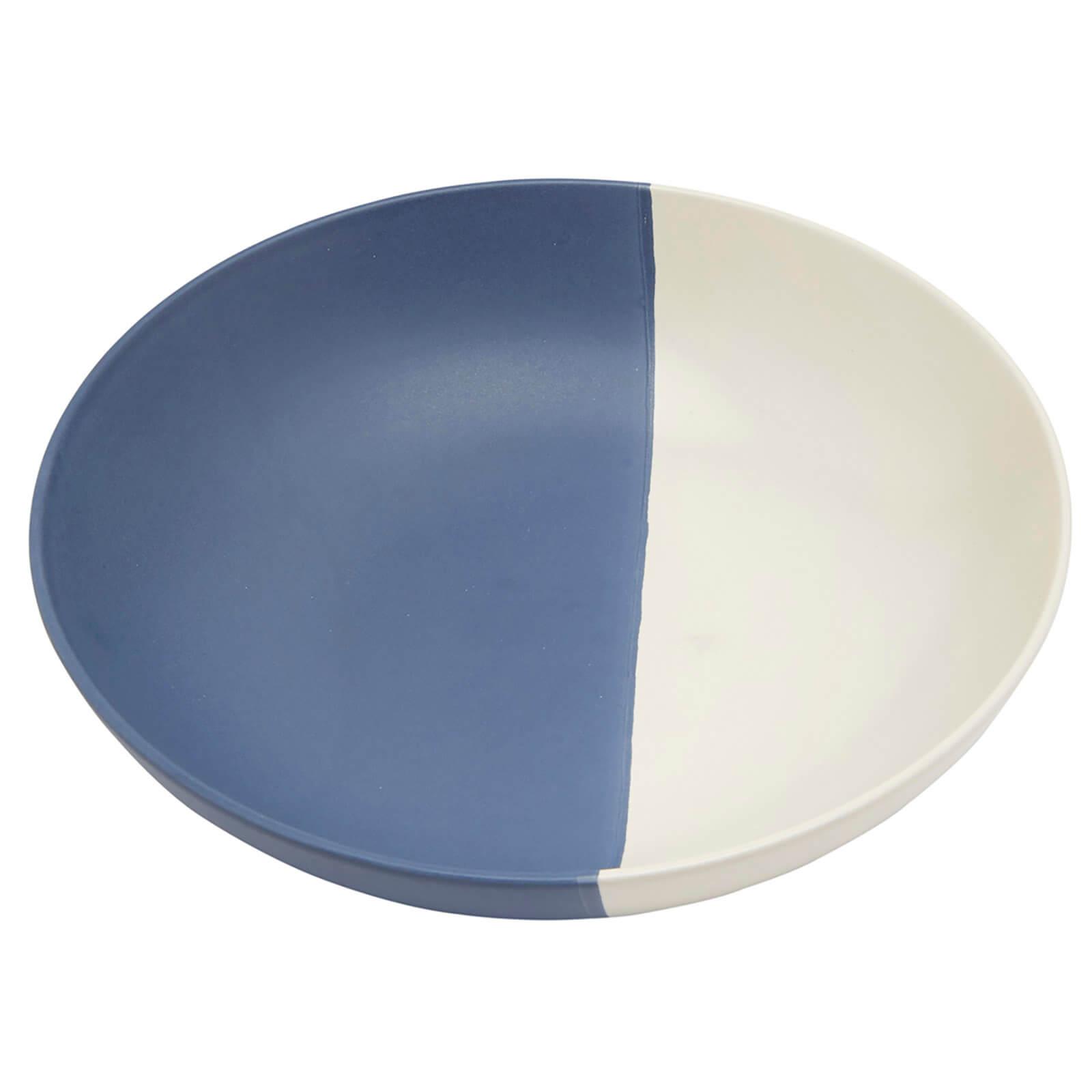 Joules Stoneware Pasta Bowl - French Navy