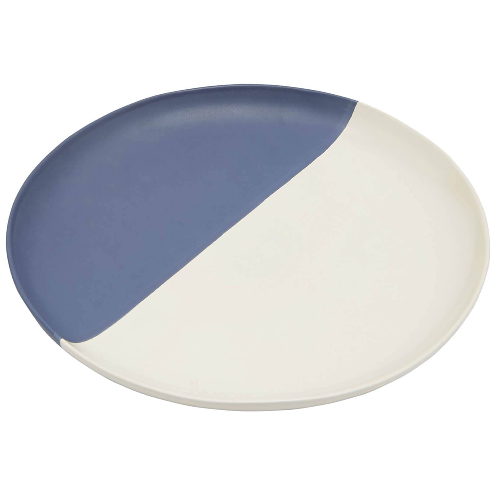 Joules Stoneware Dinner Plate - French Navy
