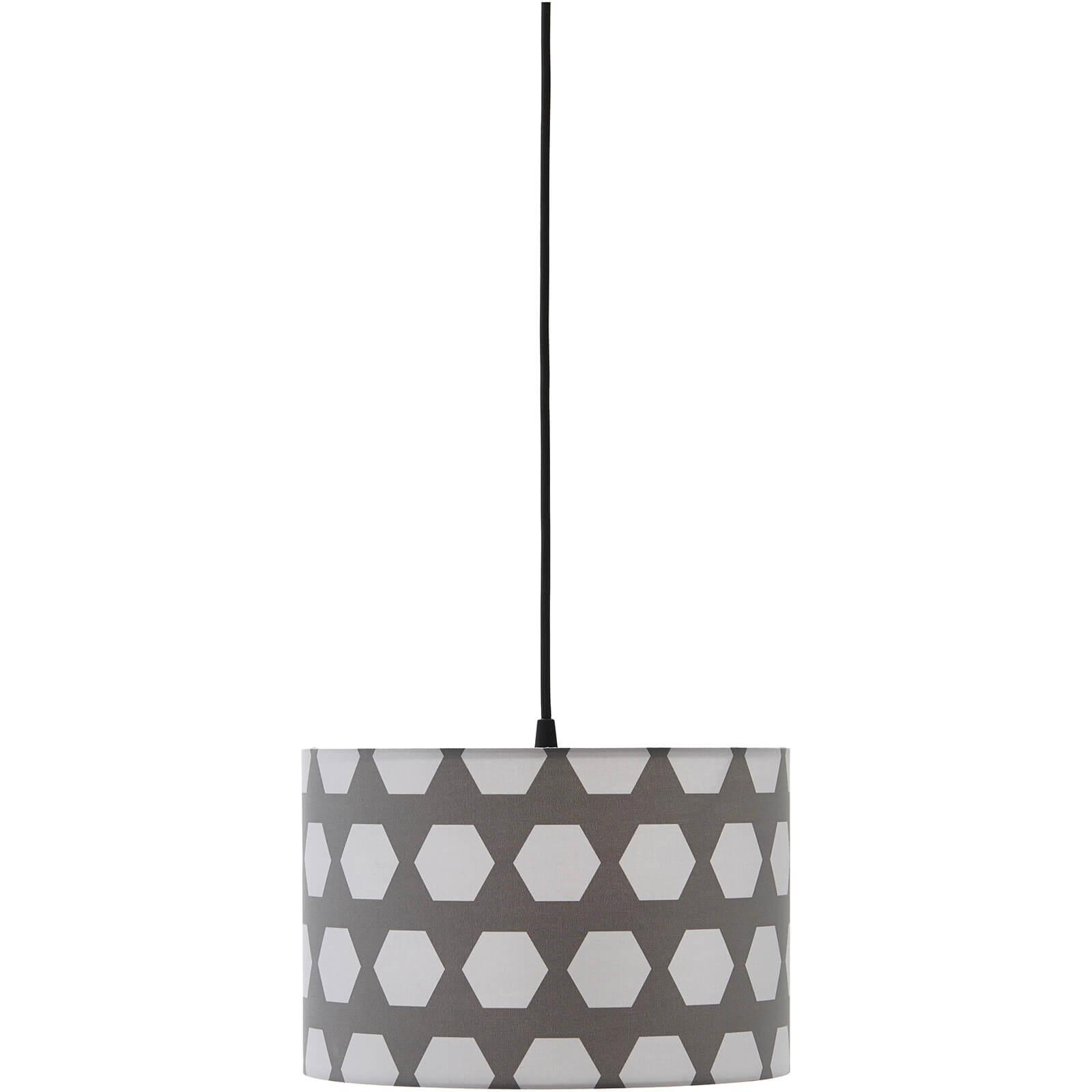 Kids Concept Ceiling Lamp Hexagon - Grey