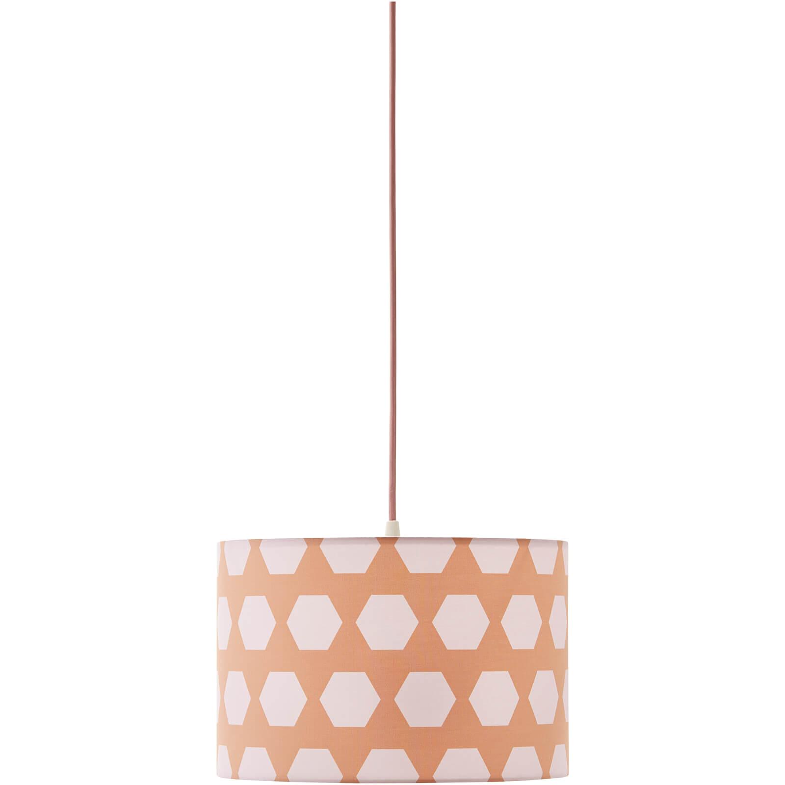 Kids Concept Ceiling Hexagon Lamp - Apricot