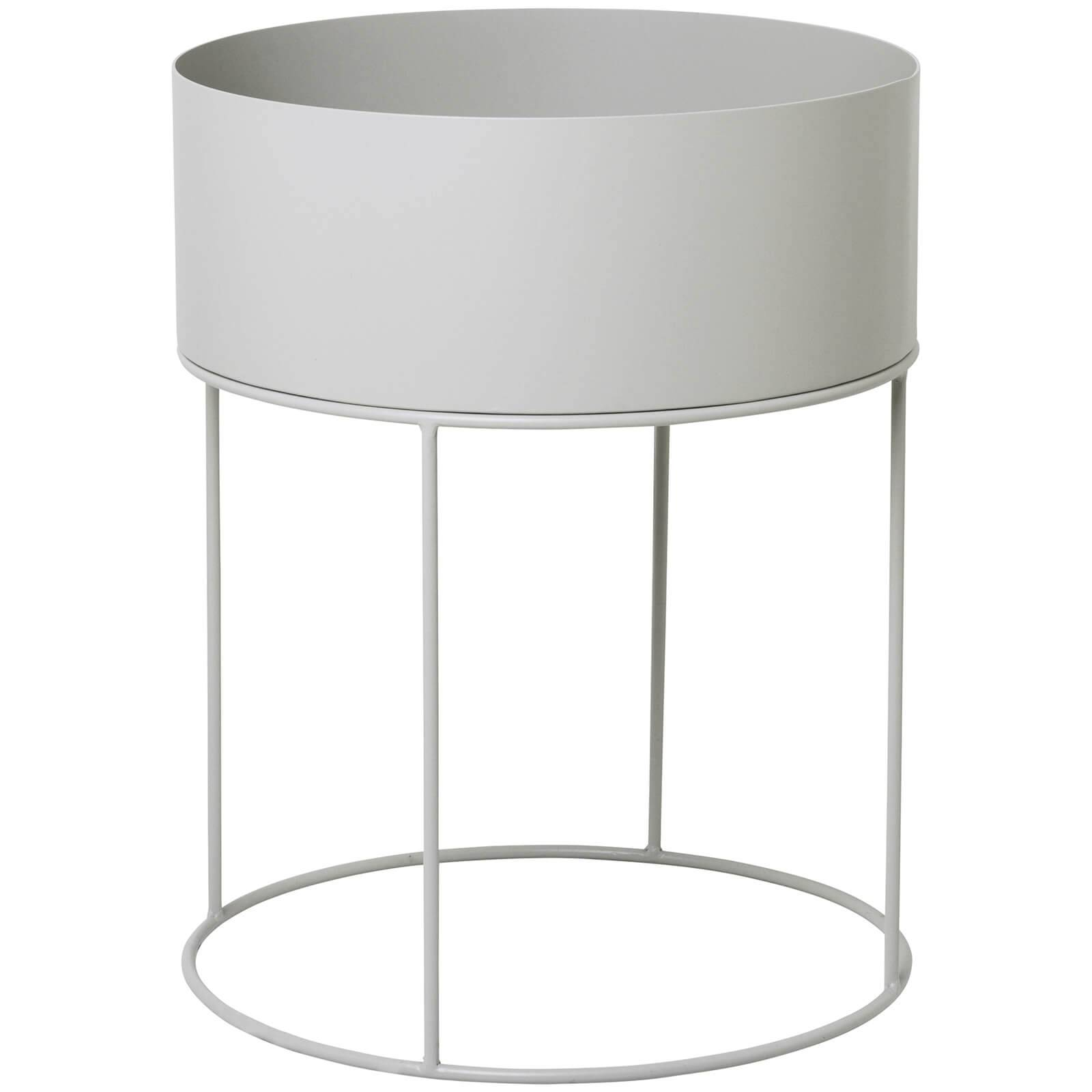 Ferm Living Plant Box and Side Table - Round - Light Grey