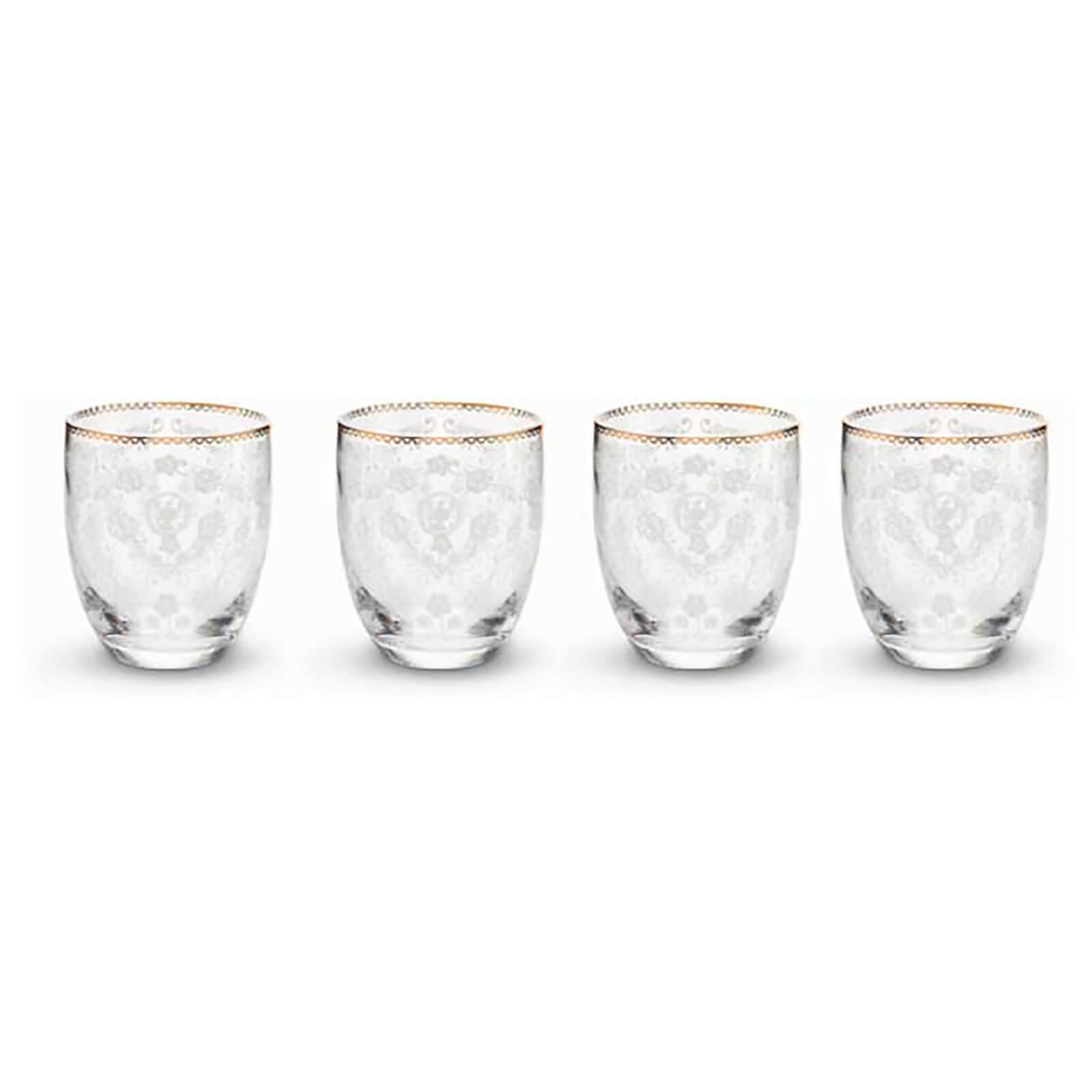 Pip Studio Water Glasses - Floral (Set of 4)