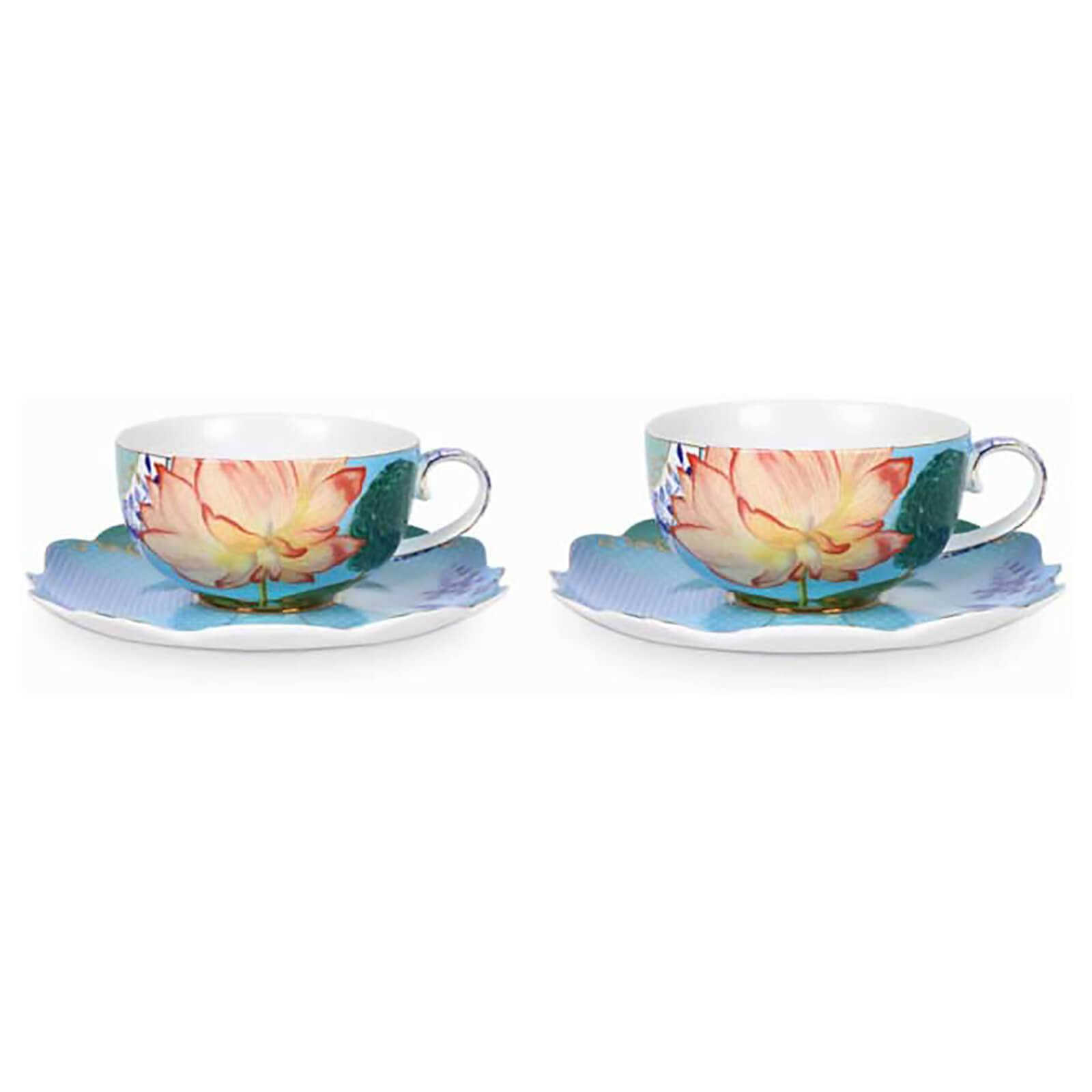 Pip Studio Tea Cups and Saucers - Floral (Set of 2)