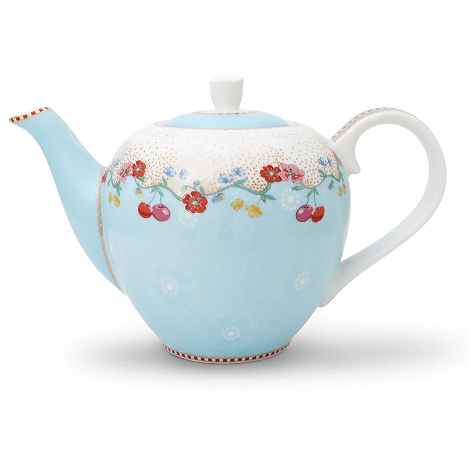 Pip Studio Small Cherry Tea Pot - Blue