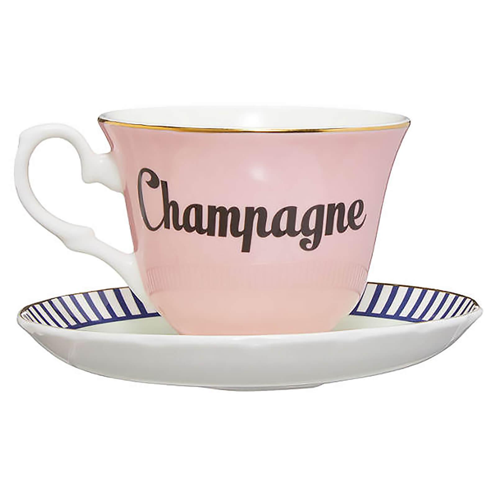 Yvonne Ellen Champagne Teacup and Saucer - Pink