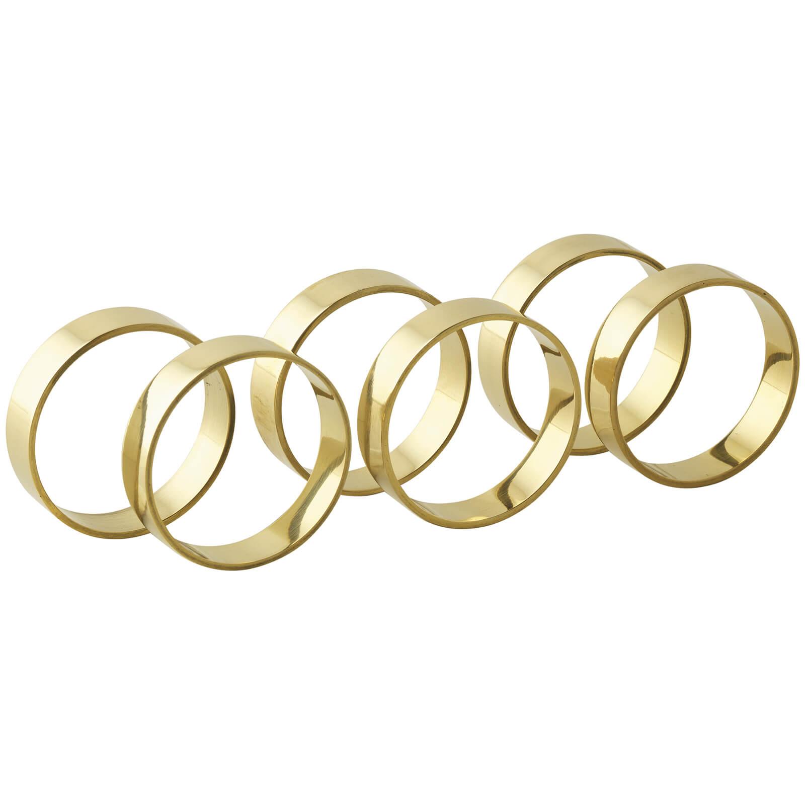 Broste Copenhagen Napkin Rings - Brass (Set of 6)