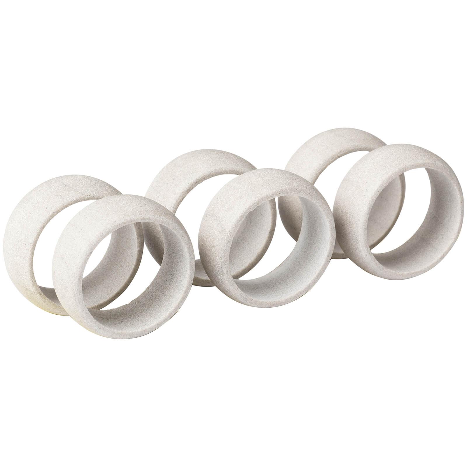 Broste Copenhagen Napkin Rings - Sand (Set of 6)