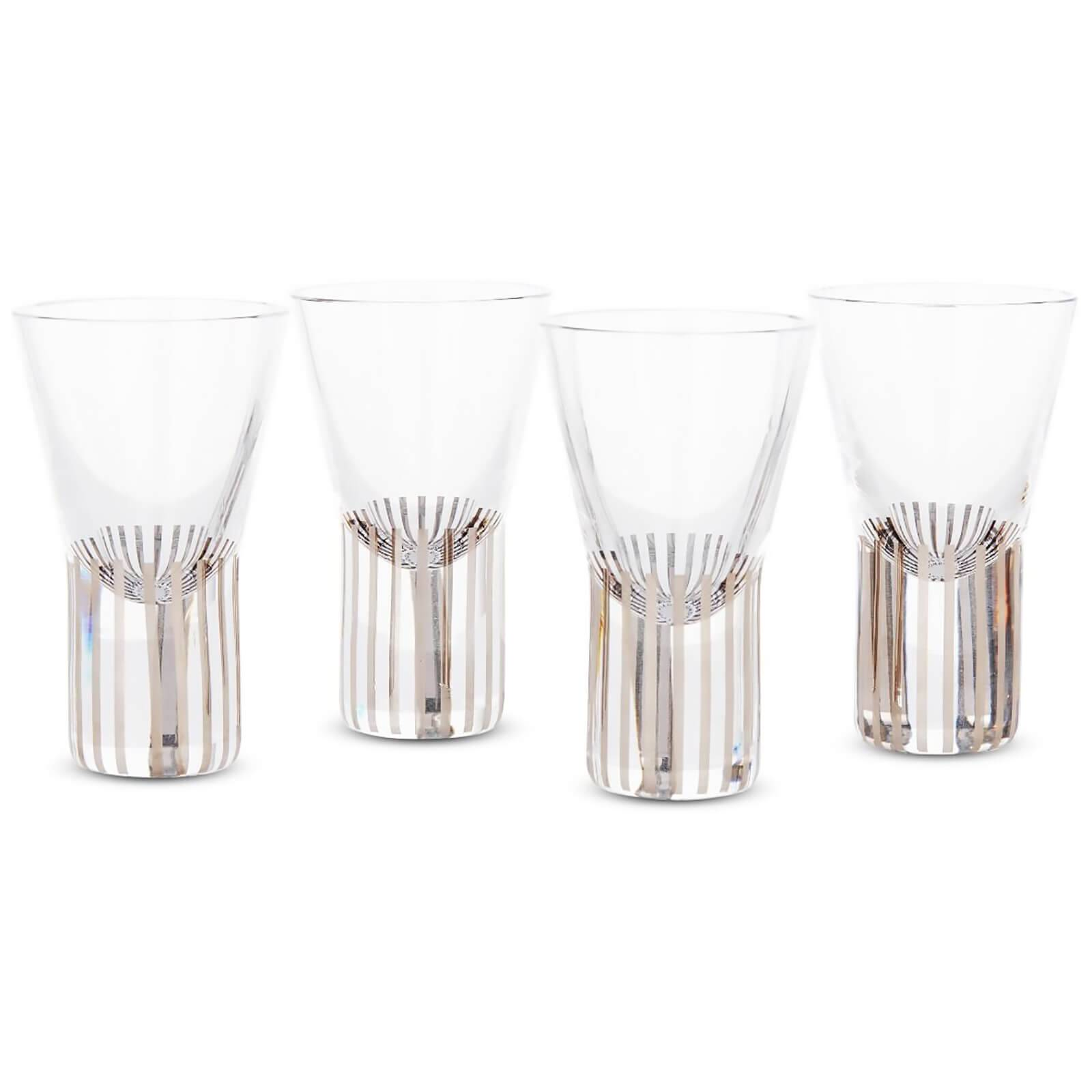 Tom Dixon Tank Shot Glasses - Platinum Stripe