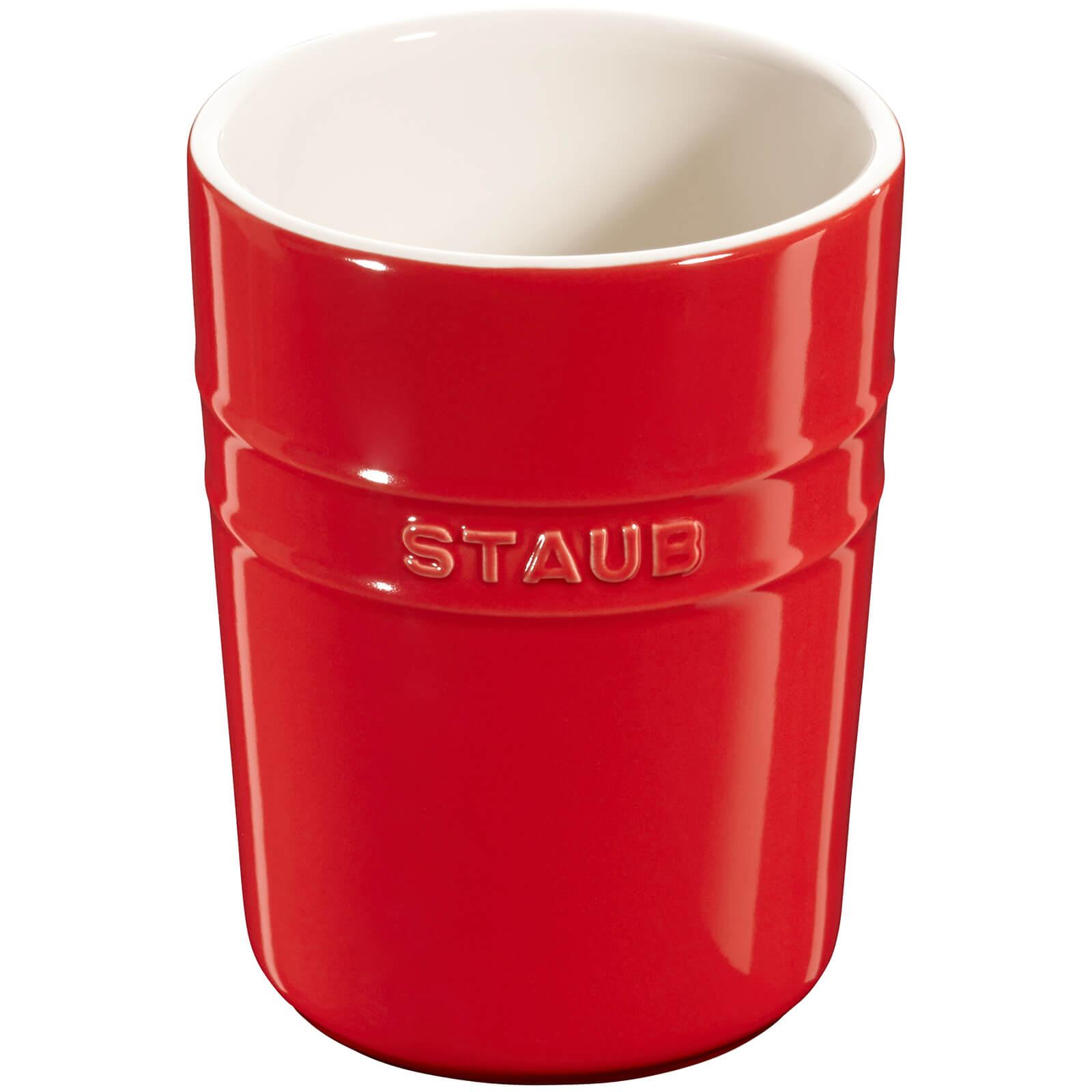 Staub Ceramic Round Utensil Holder - Cherry