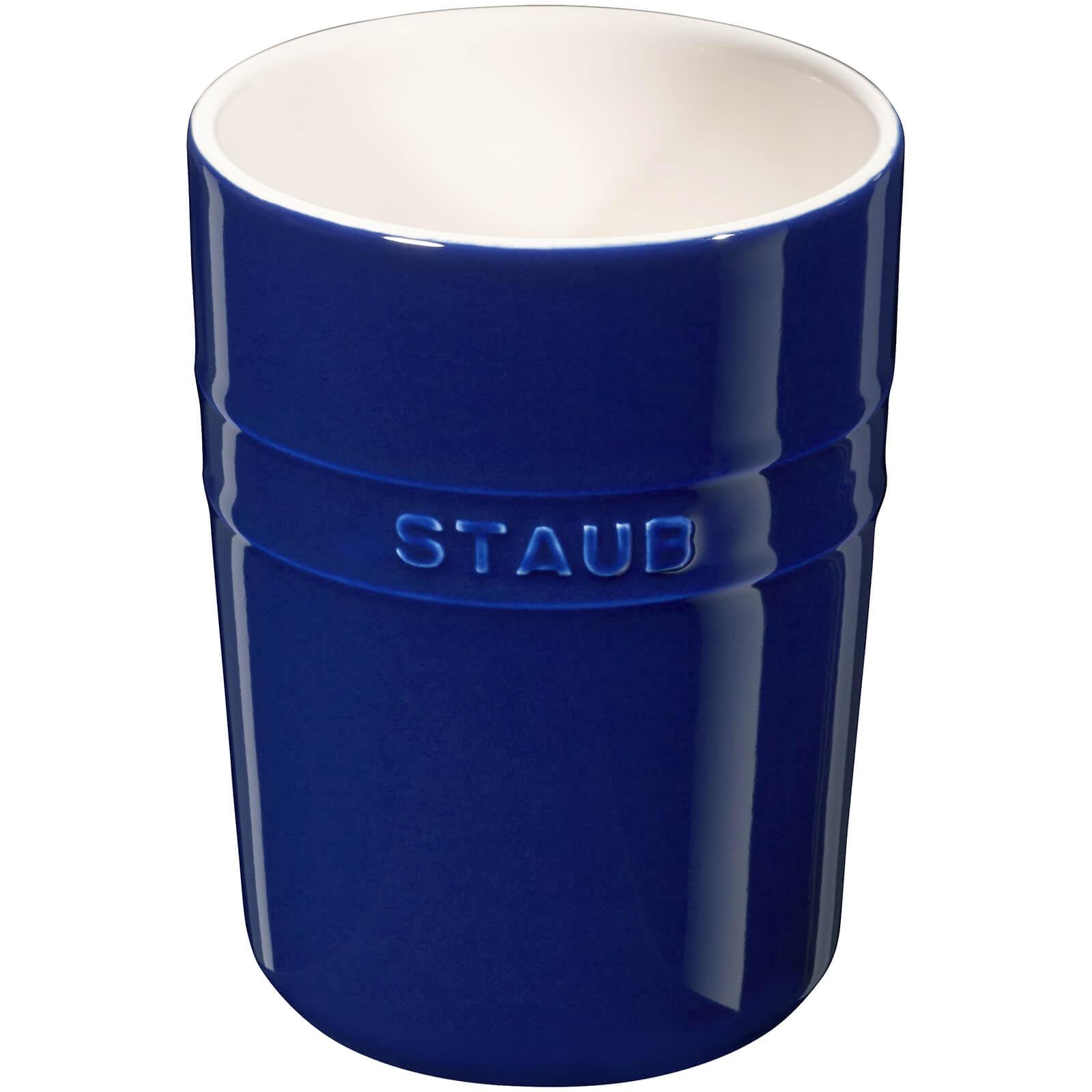 Staub Ceramic Round Utensil Holder - Dark Blue