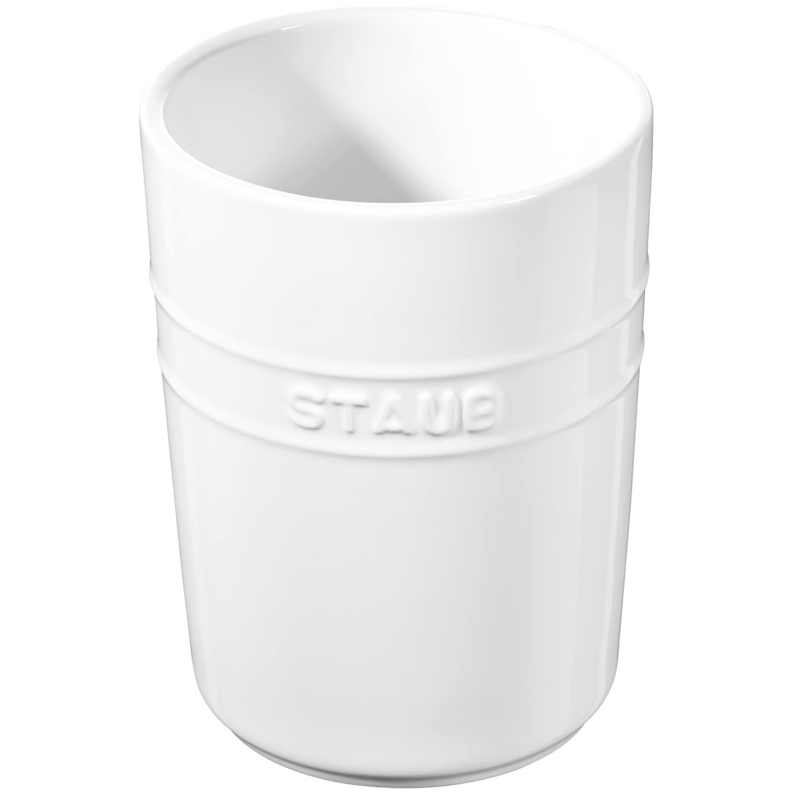 Staub Ceramic Round Utensil Holder - White