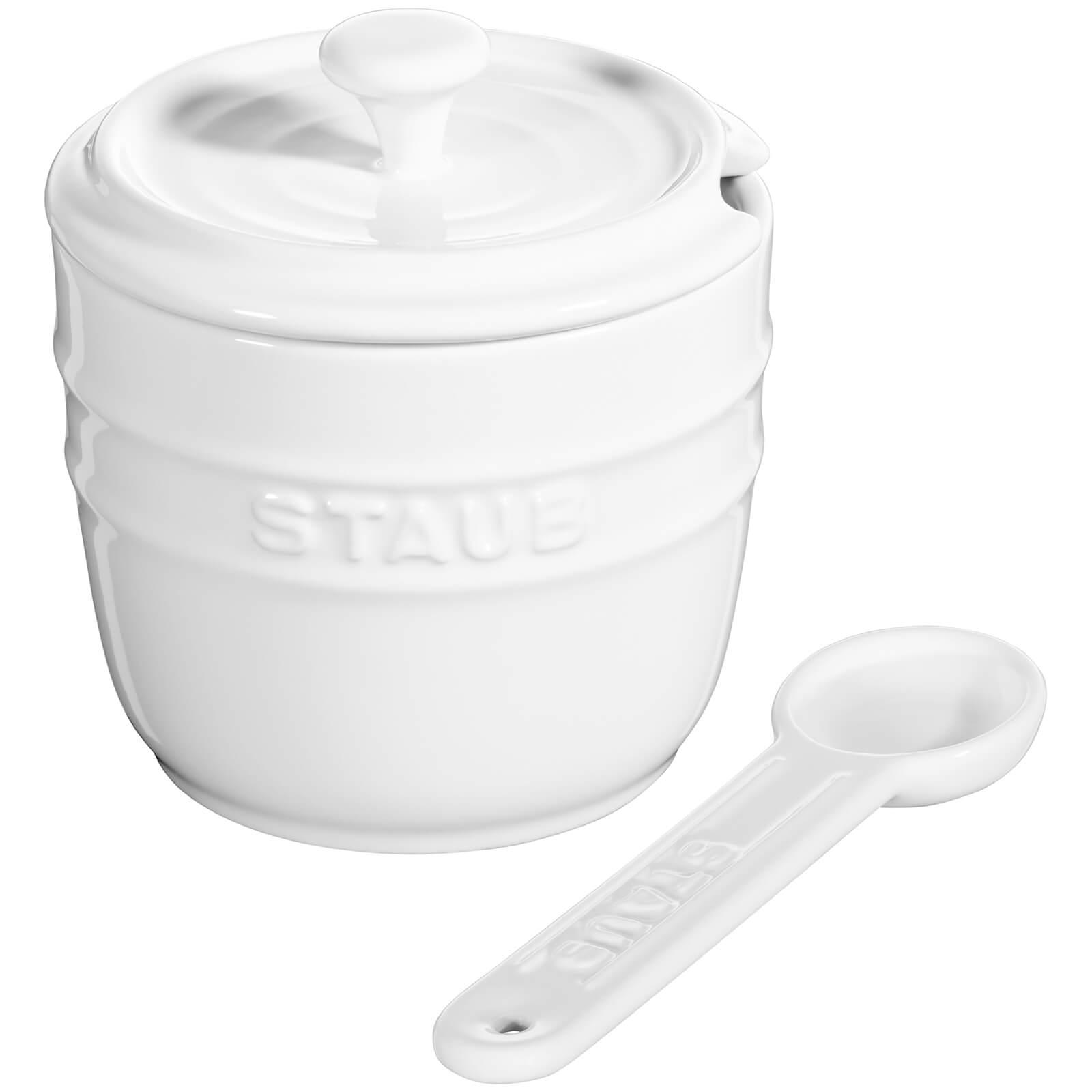 Staub Ceramic Round Sugar Bowl - White