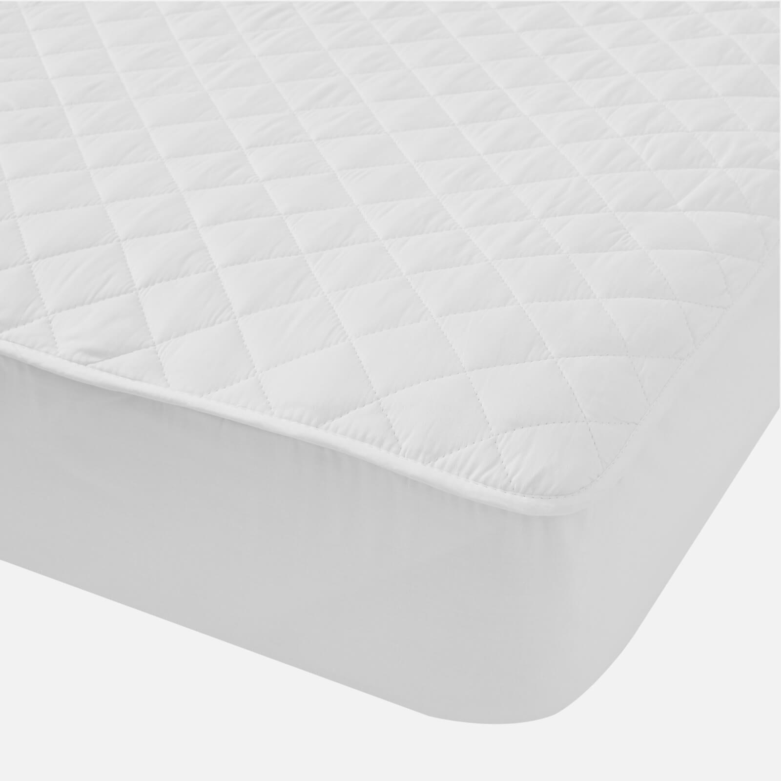 in homeware Cotton Mattress Protector - White - King