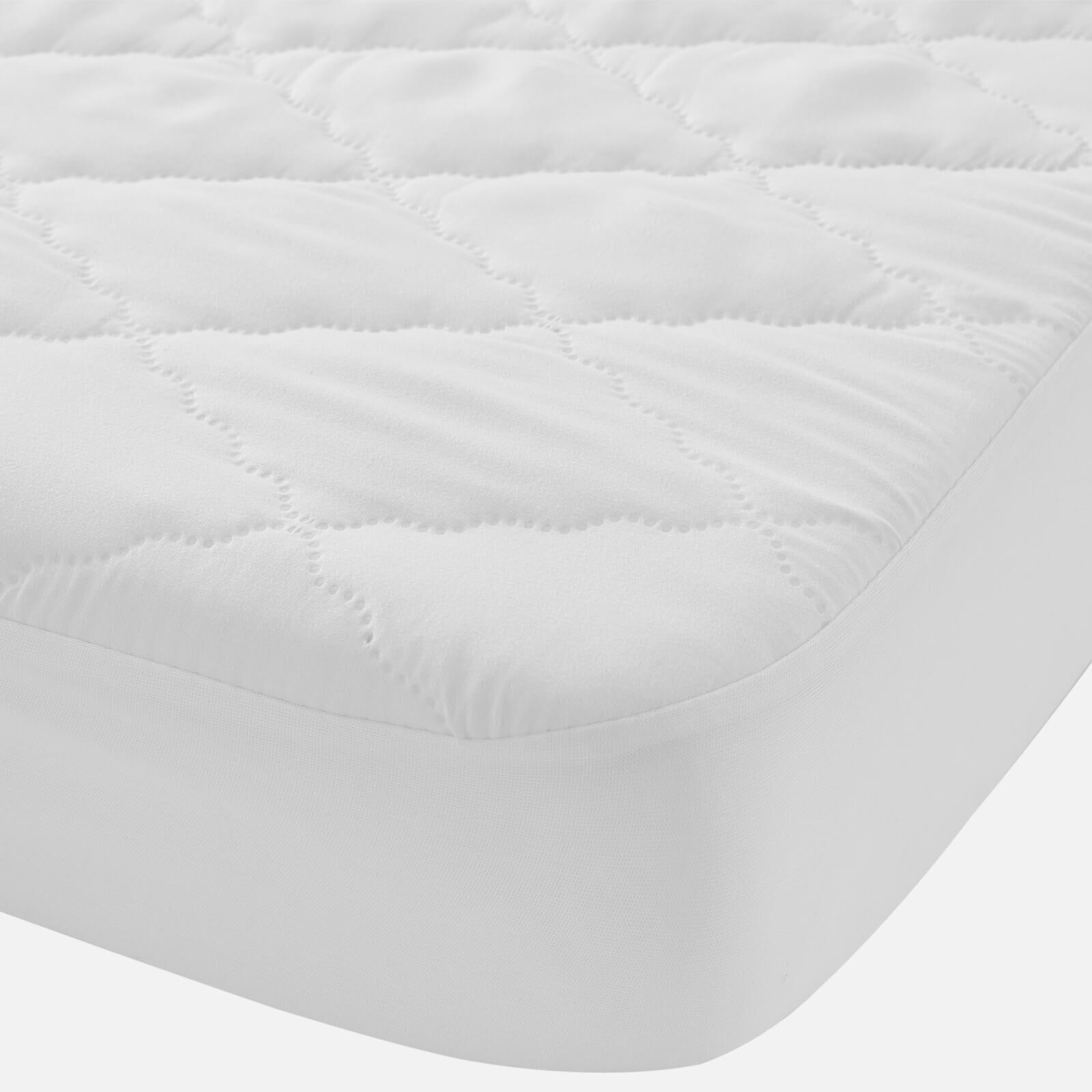 in homeware Simplecare Mattress Protector - White - Small Cotbed