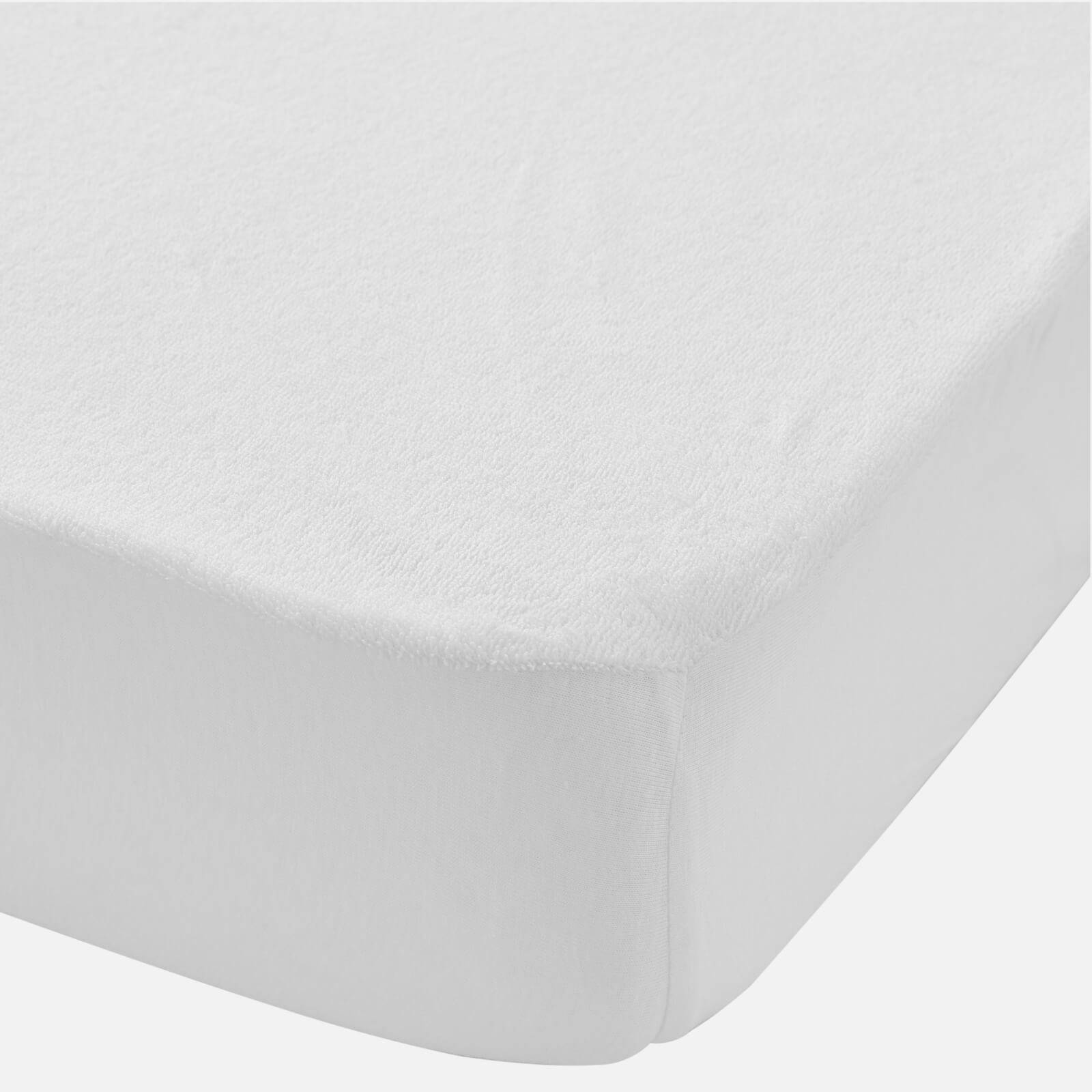 in homeware Waterproof Terry Baby Mattress Protector - White - Cotbed
