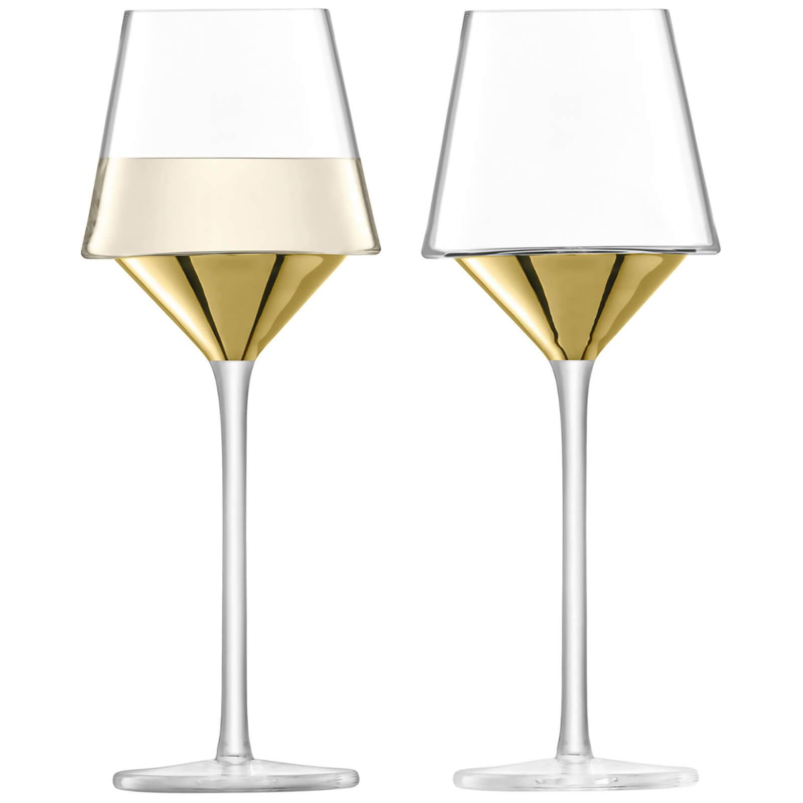 LSA International LSA Space Wine Glasses - Gold (Set of 2)