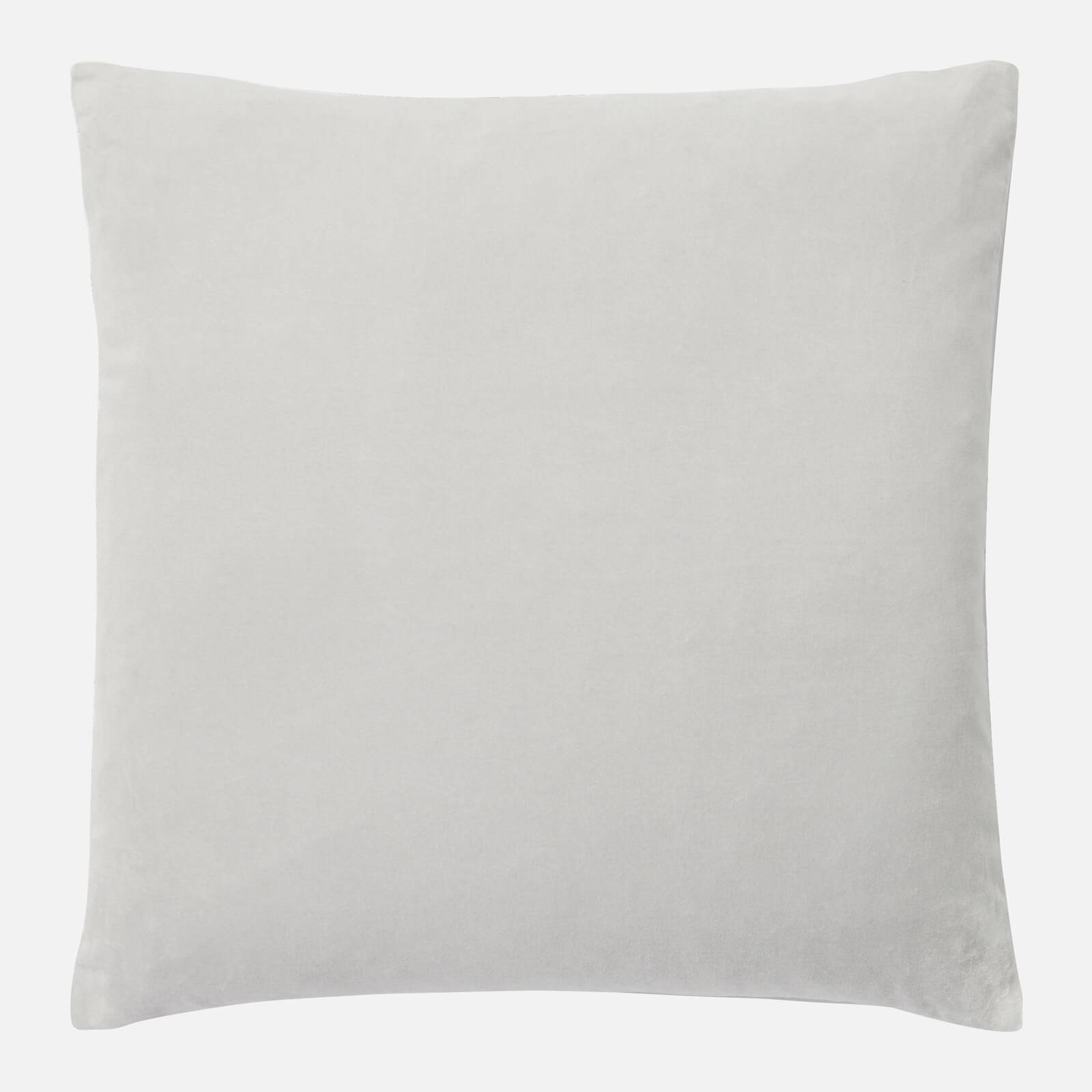 in homeware Cotton Velvet Cushion - Silver