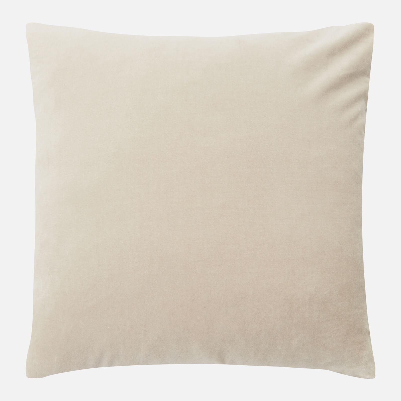 in homeware Cotton Velvet Cushion - Natural