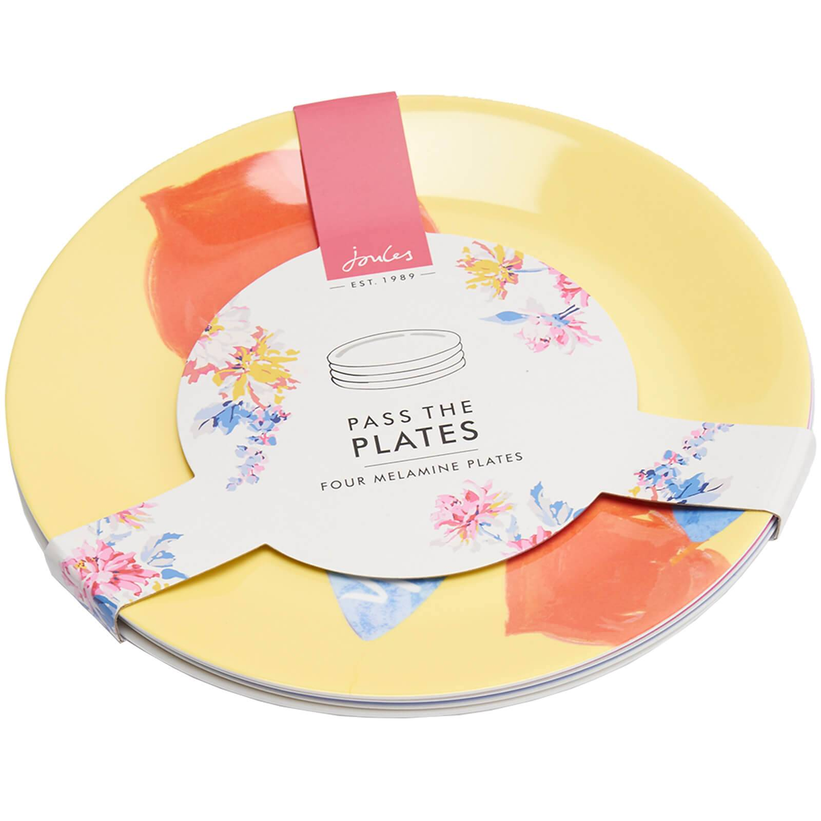 Joules 4 Pack Garden Plates - Yellow