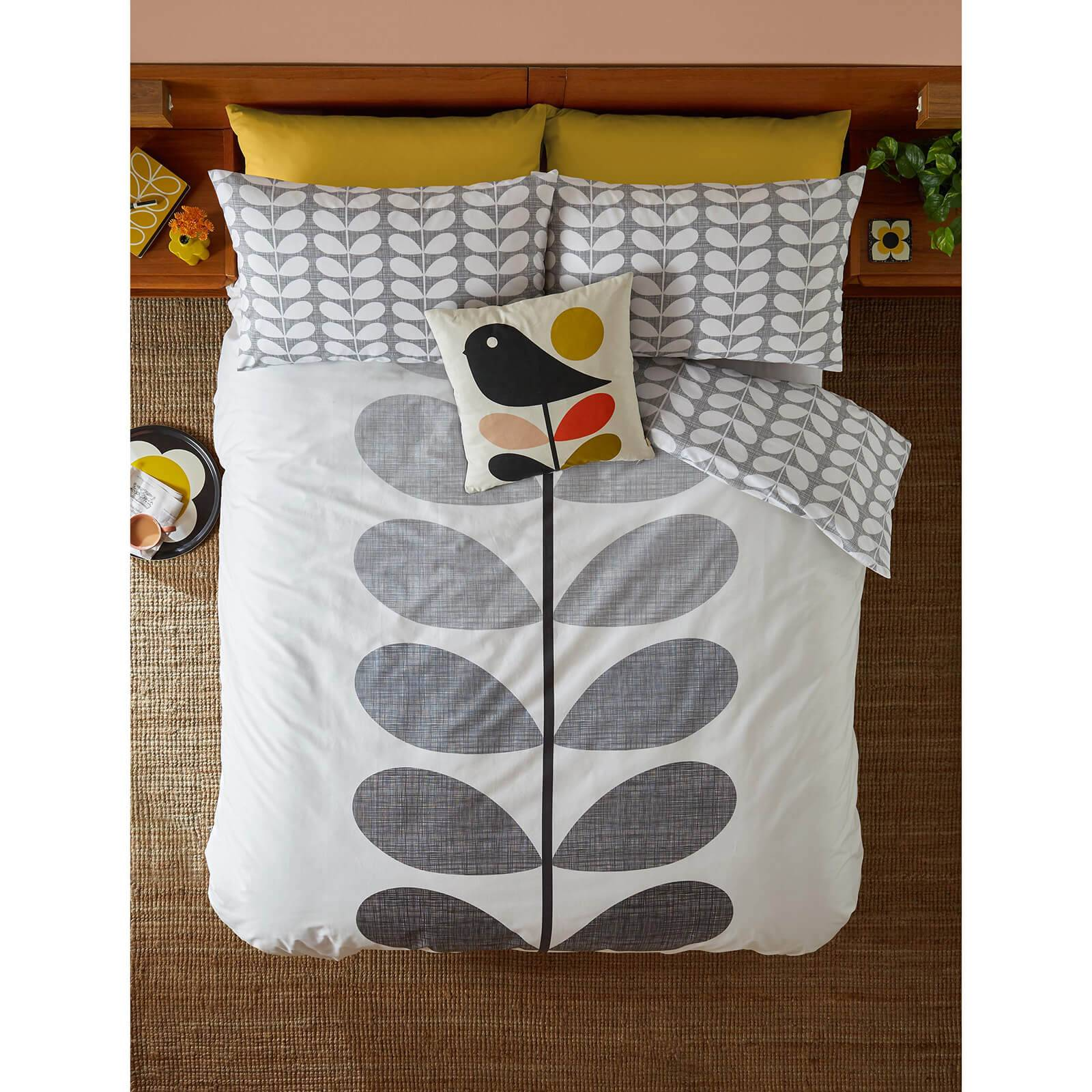 Orla Kiely Placement Scribble Stem Quilt Cover - Grey - Single
