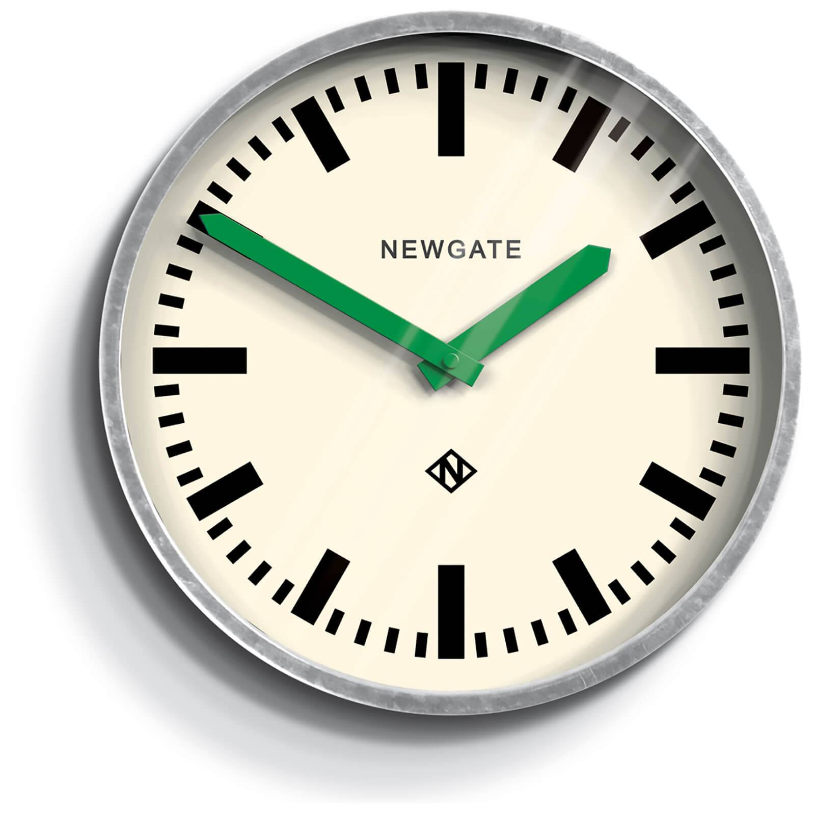 Newgate Luggage Wall Clock - Green Hands