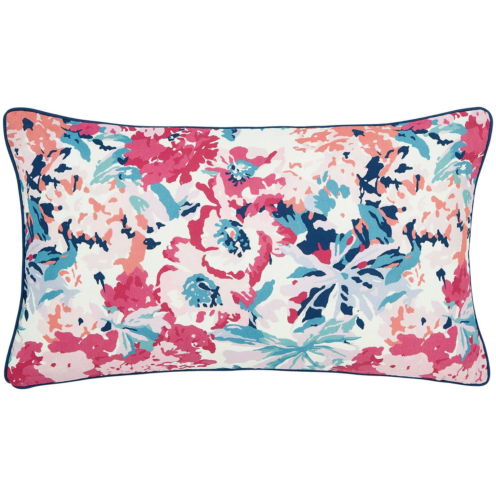 Joules Cottage Garden Border Stripe Cushions - Navy