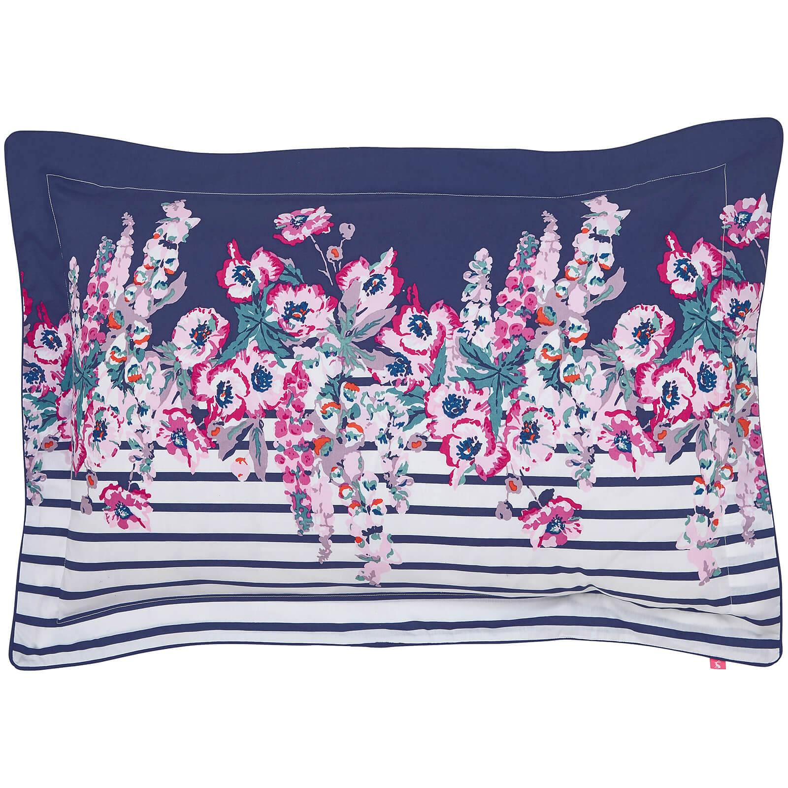 Joules Cottage Garden Border Stripe Oxford Pillowcase - Navy