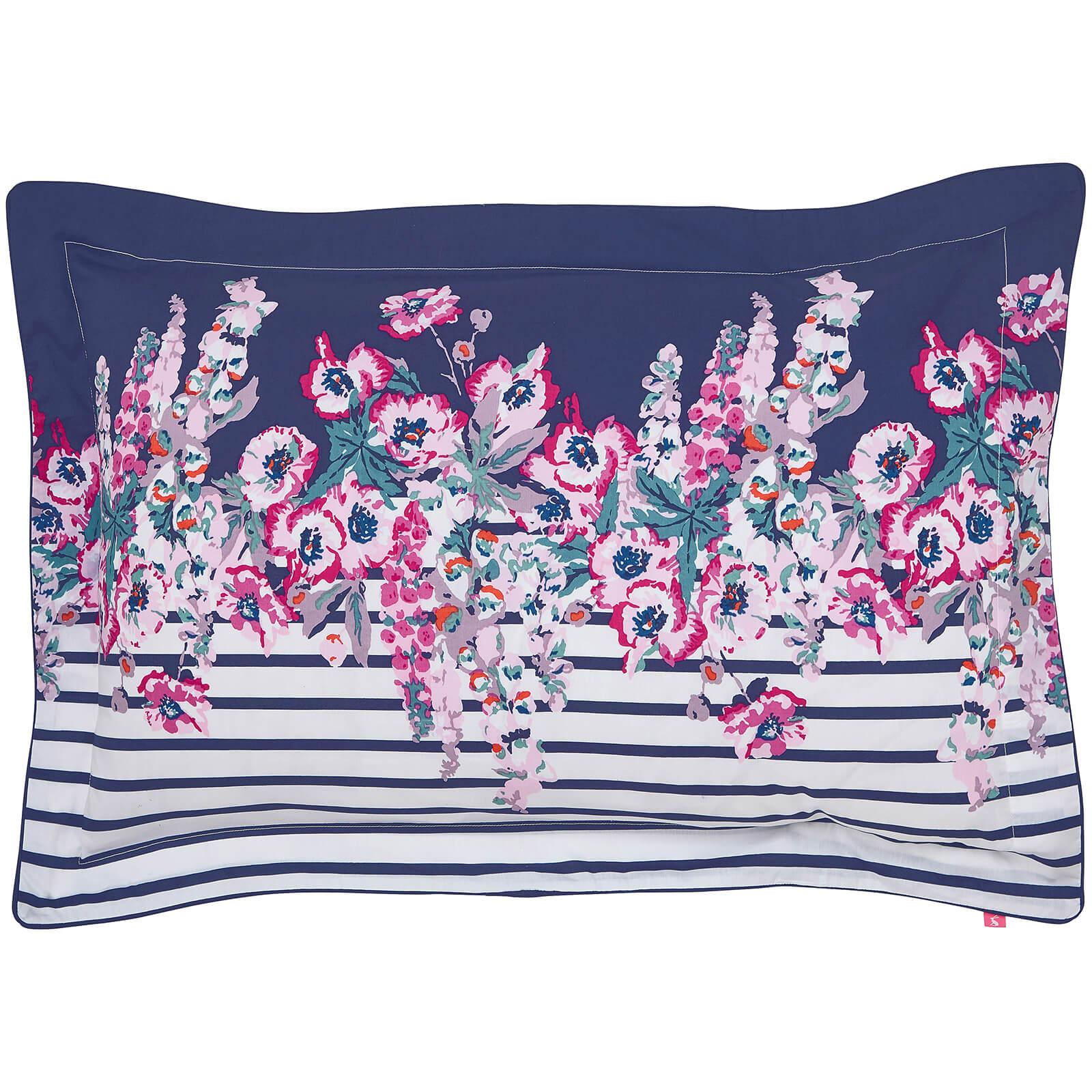 Joules Cottage Garden Border Stripe Oxford Pillowcase - Navy