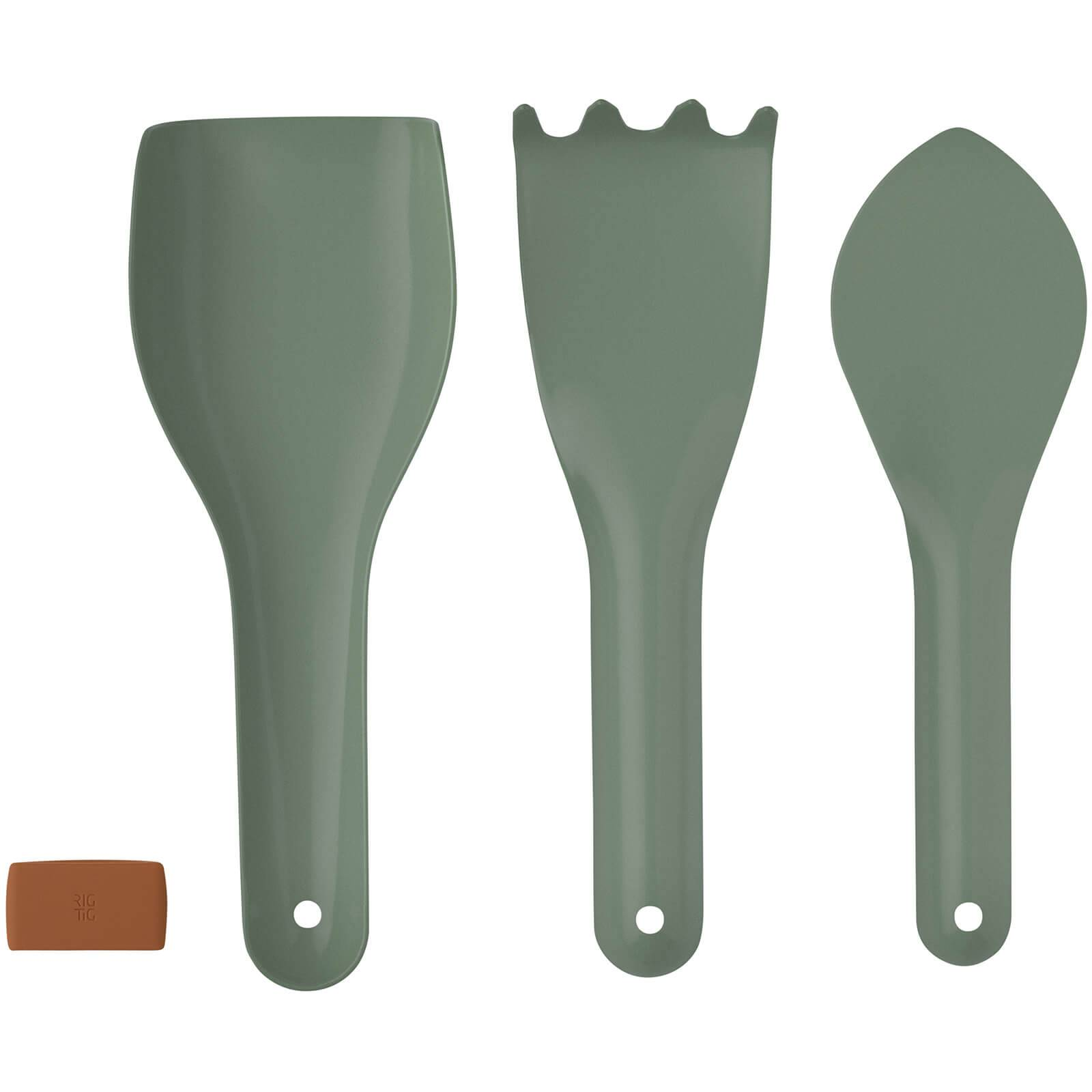 RIG-TIG Green-It Gardening Tools - Set of 3 - Green