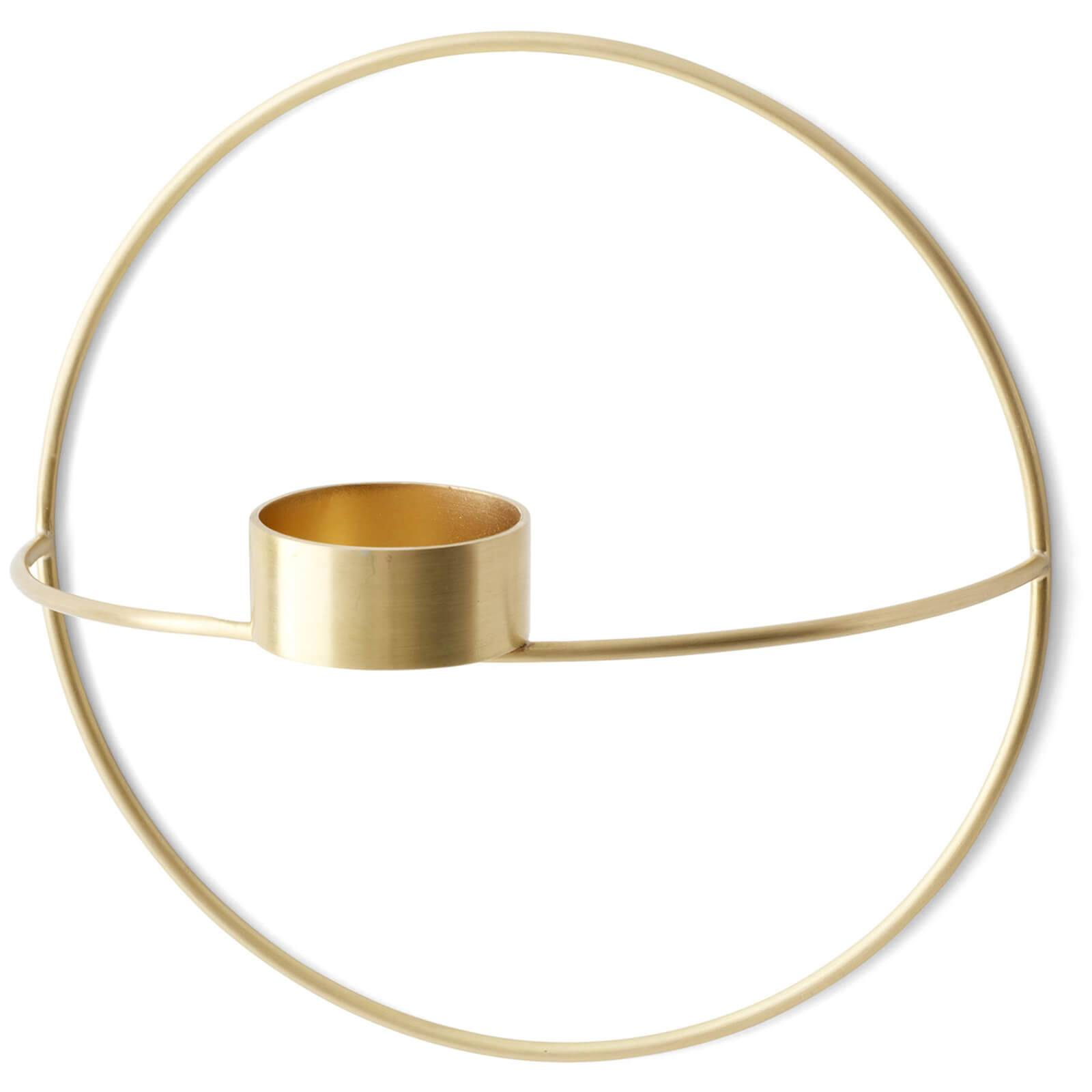 Menu POV Circle Tealight Candle Holder - Brass