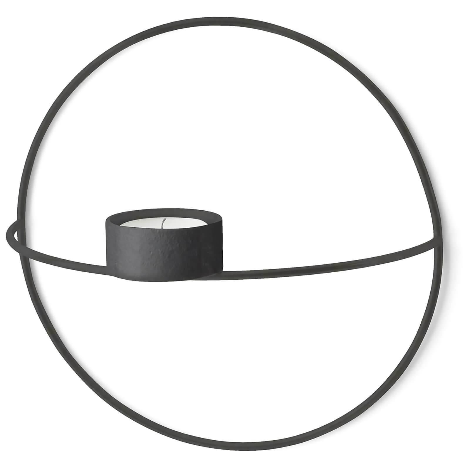 Menu POV Circle Tealight Candle Holder - Black