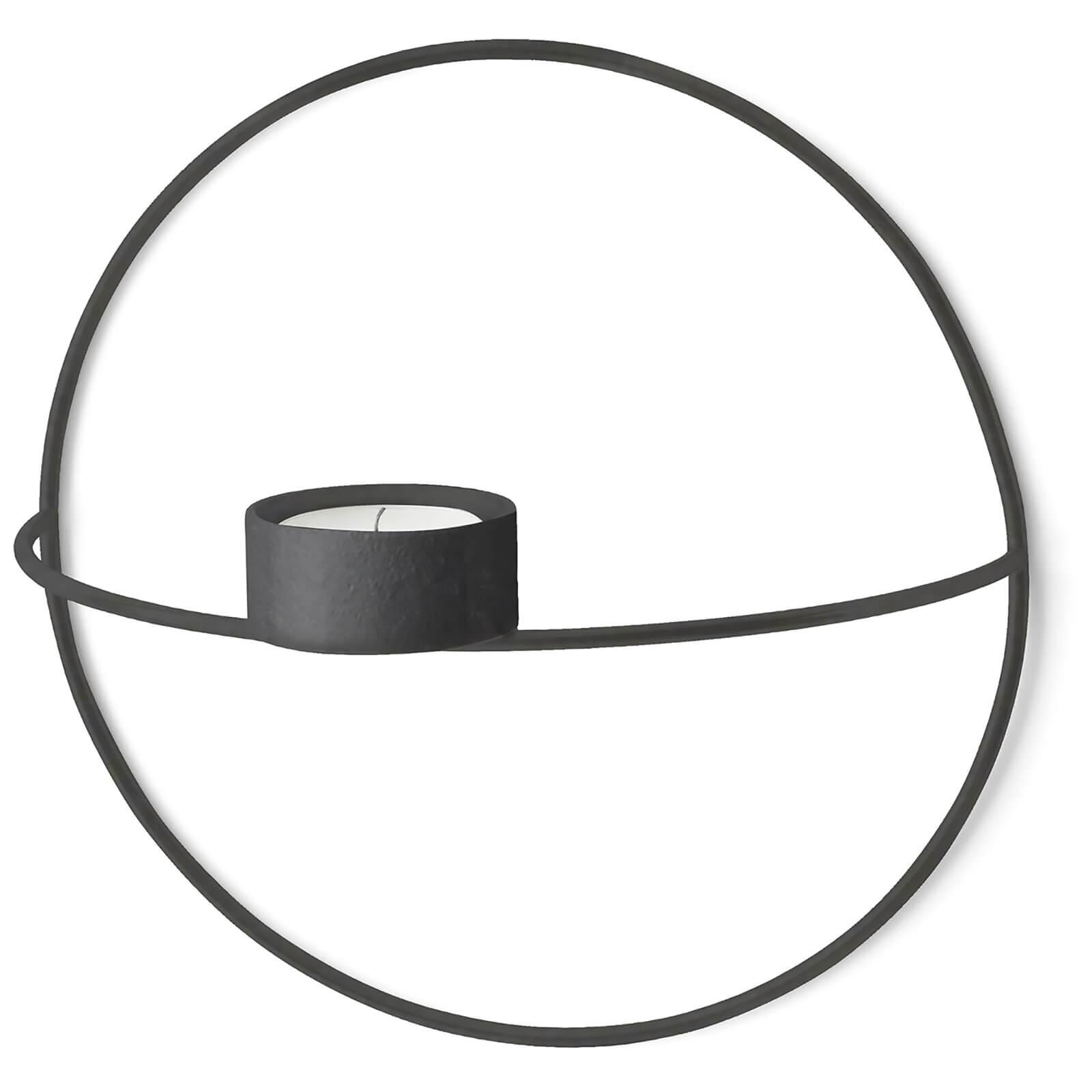 Menu POV Circle Tealight Candle Holder - Black