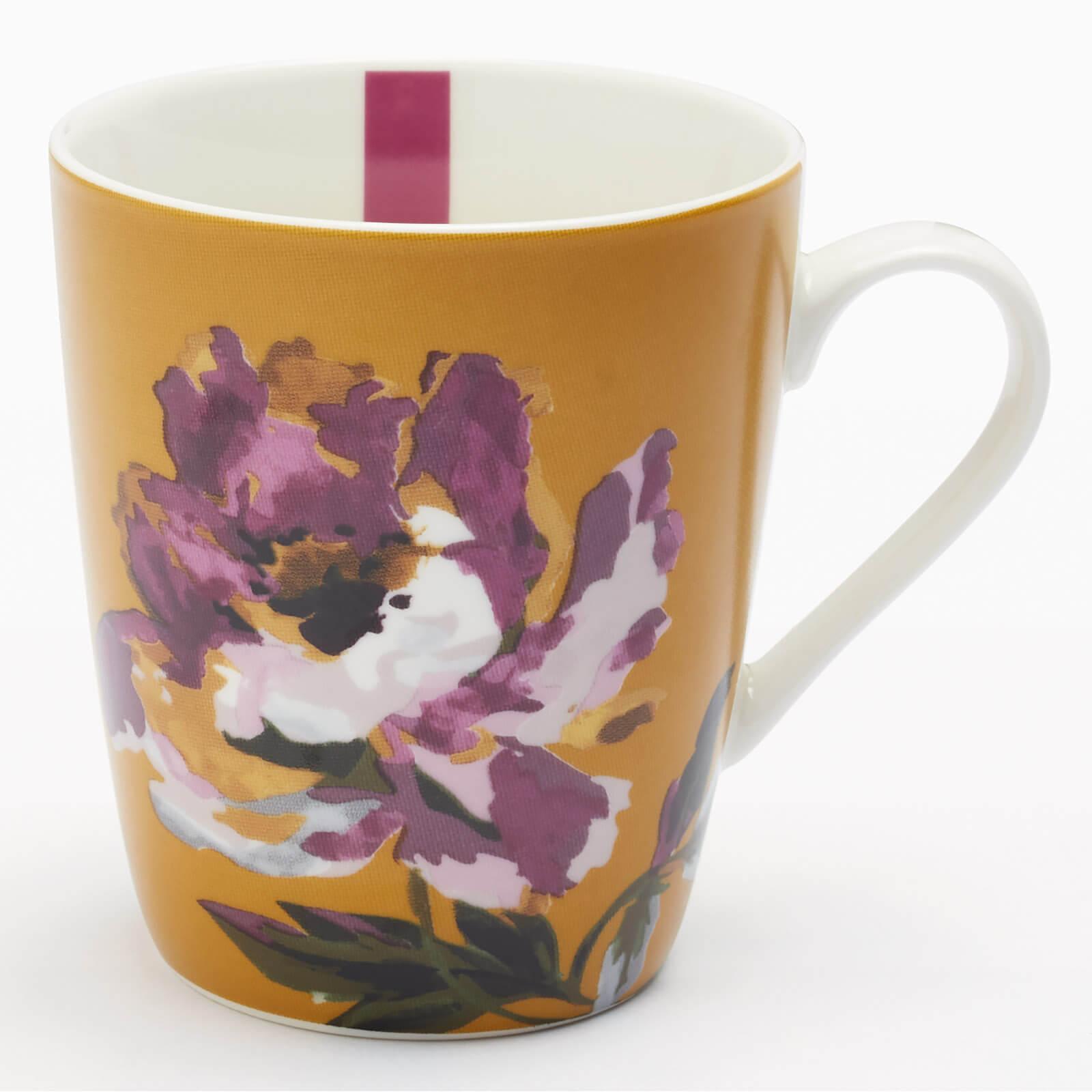 Joules Floral Mug - Gold