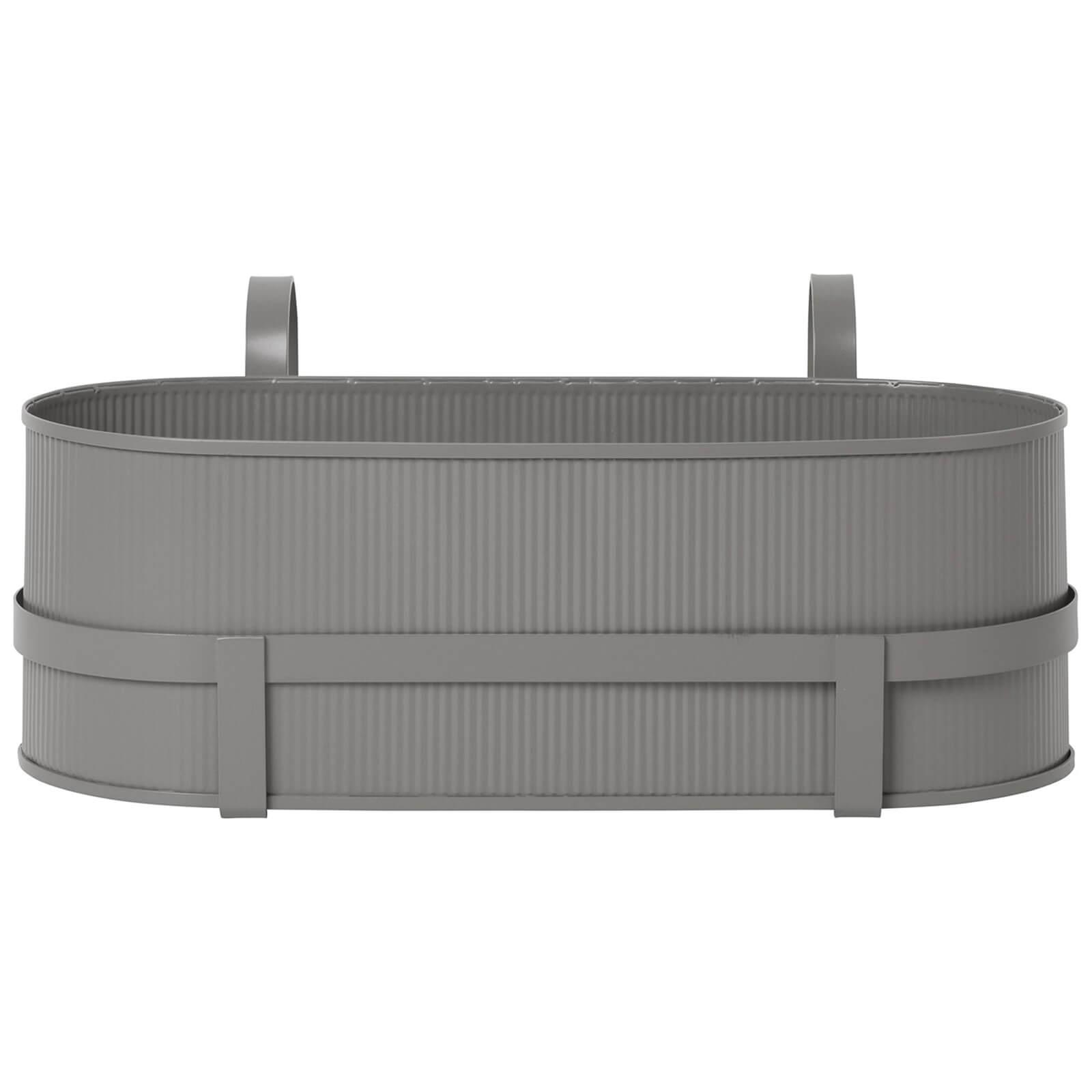 Ferm Living Bau Balcony Pot - Warm Grey