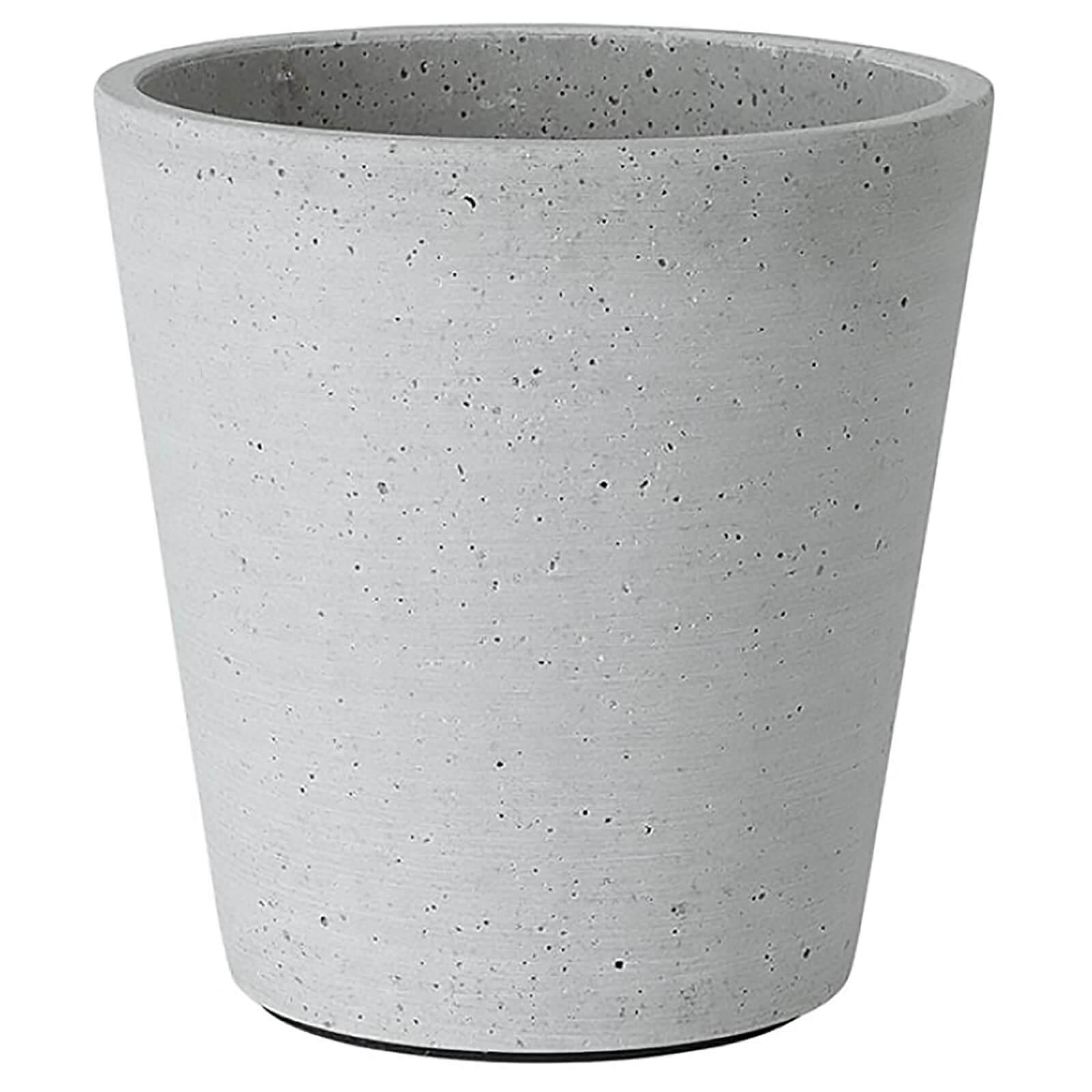 Blomus Coluna Flower Pot - Grey 14.5cm x 14cm