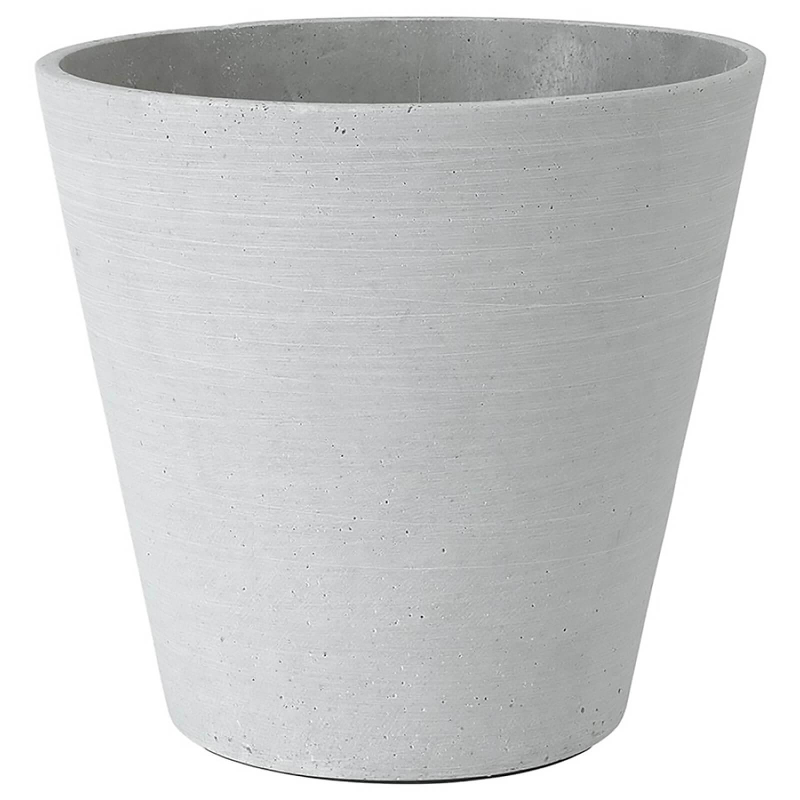 Blomus Coluna Flower Pot - Grey 24cm x 26cm