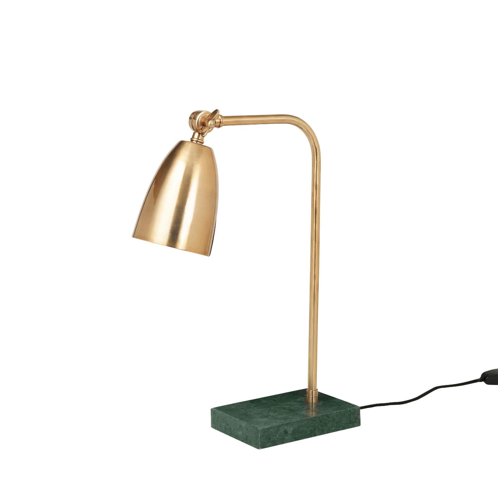Broste Copenhagen Mynte Marble Iron Table Lamp - Brass