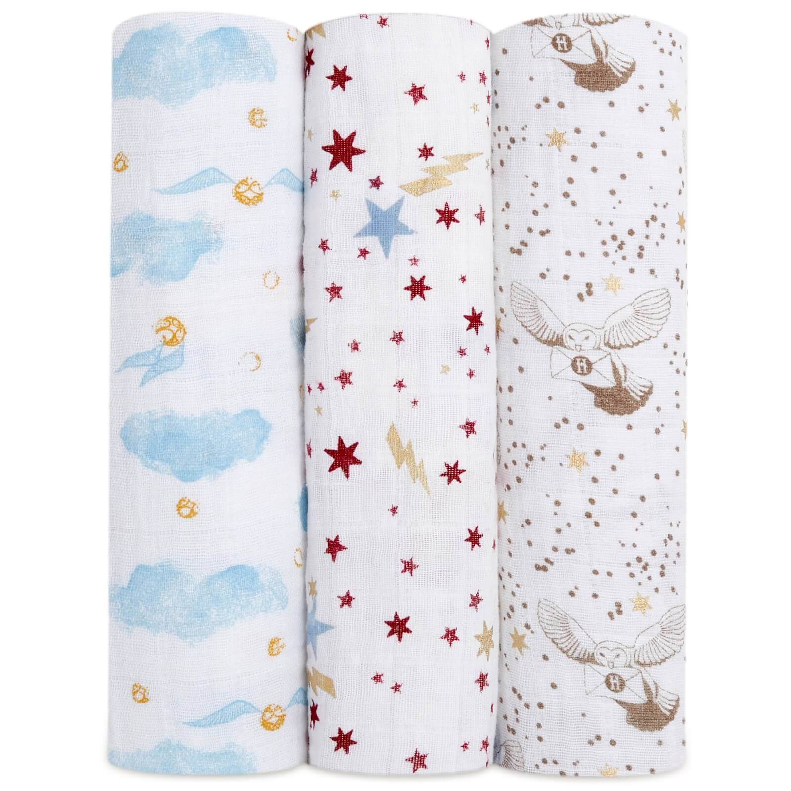 aden + anais Harry Potter™ Limited Edition Metallic Swaddles (3 Pack)