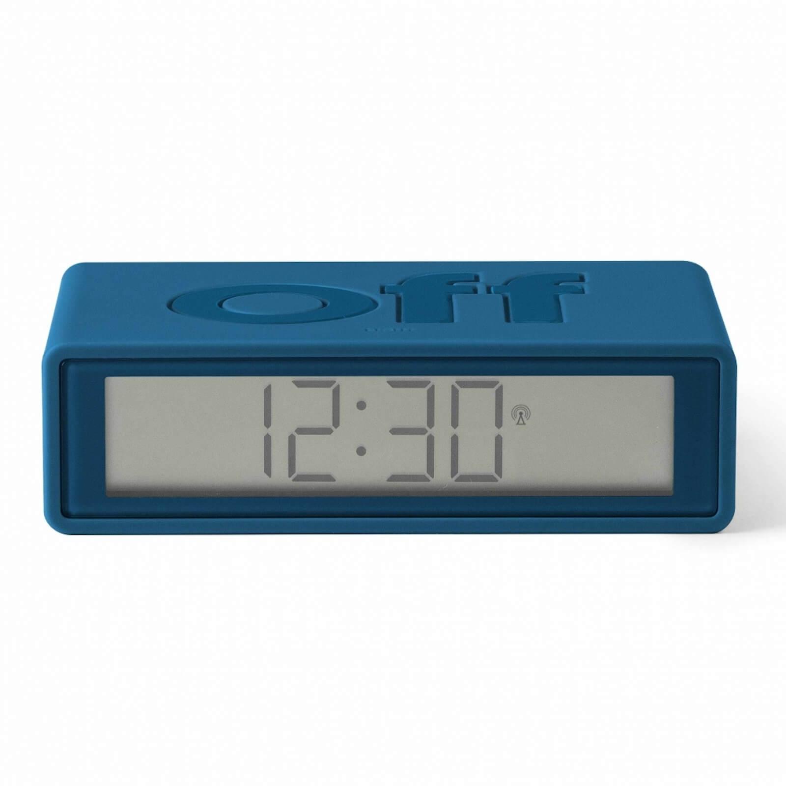 Lexon FLIP+ Alarm Clock - Rubber Duck Blue