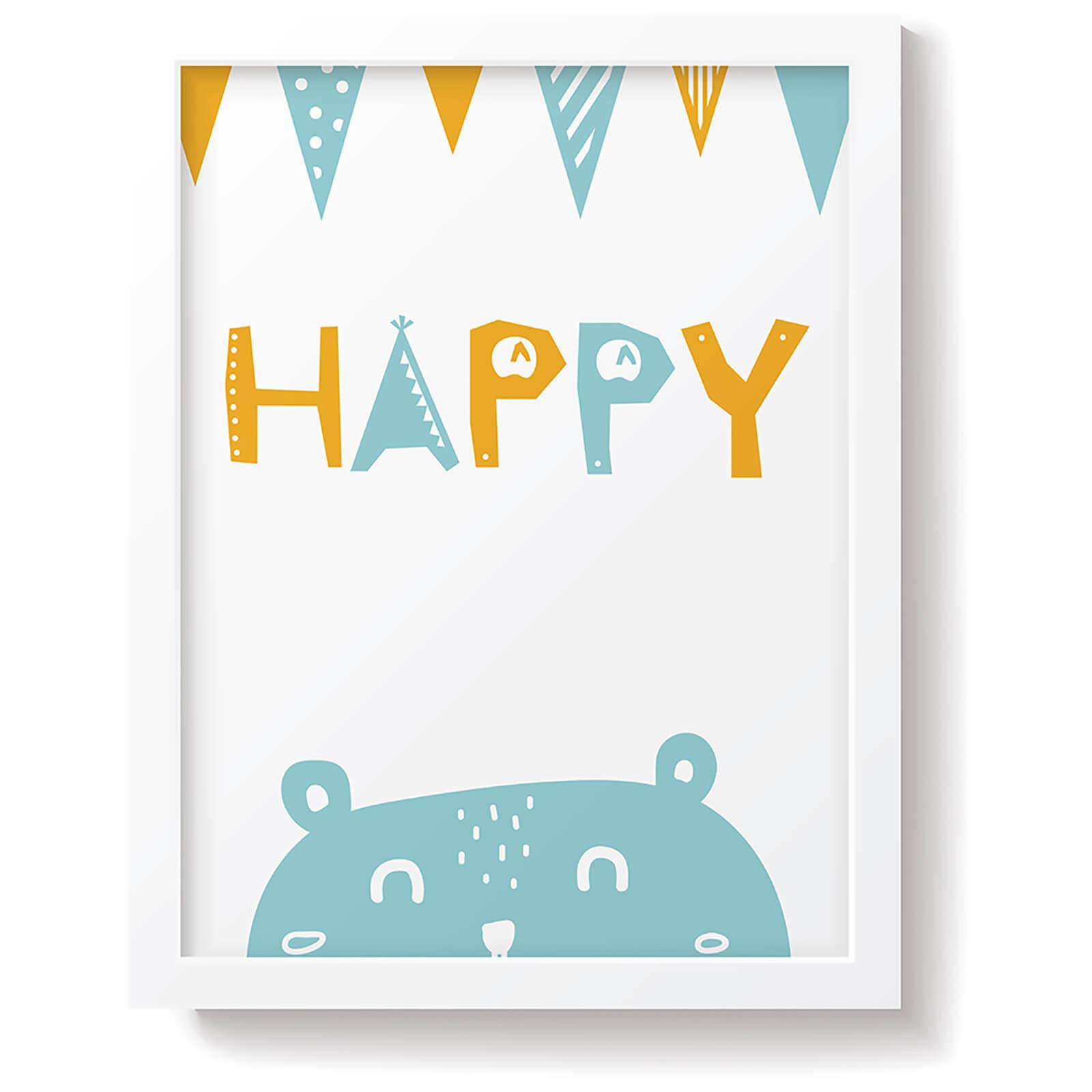Snüz Happy Nursery Print - Blue