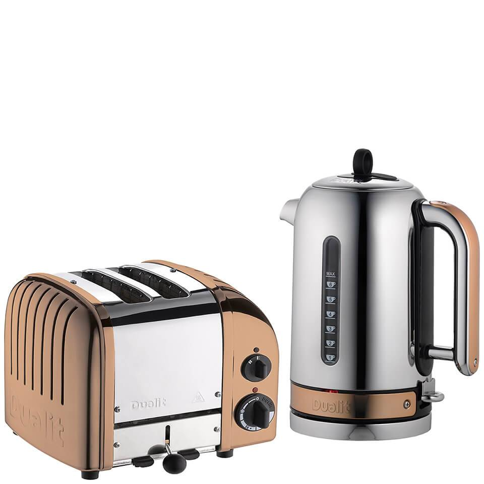 Dualit Classic Vario 2 Slot Toaster & Kettle Bundle - Copper
