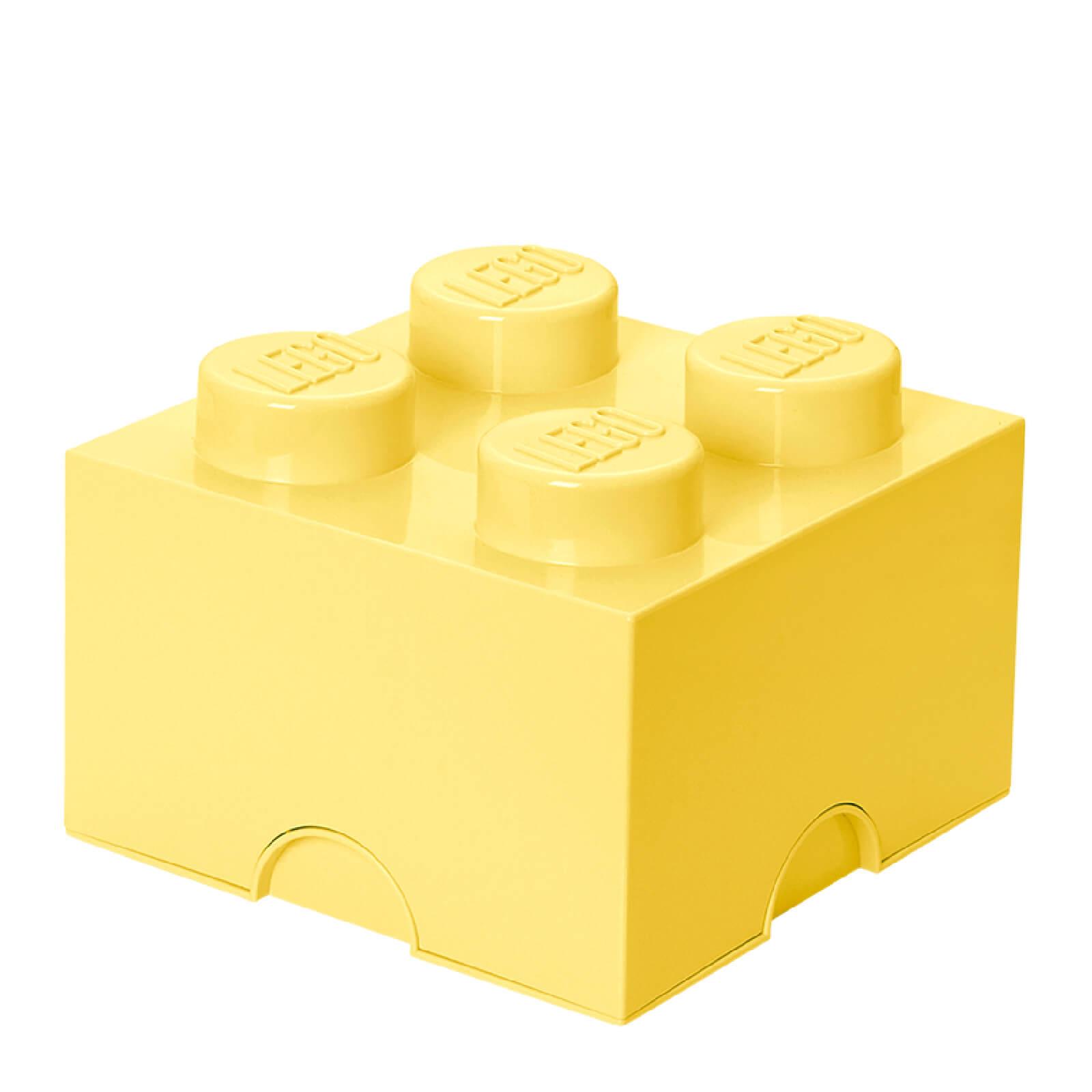 Lego Storage Brick 4 - Cool Yellow