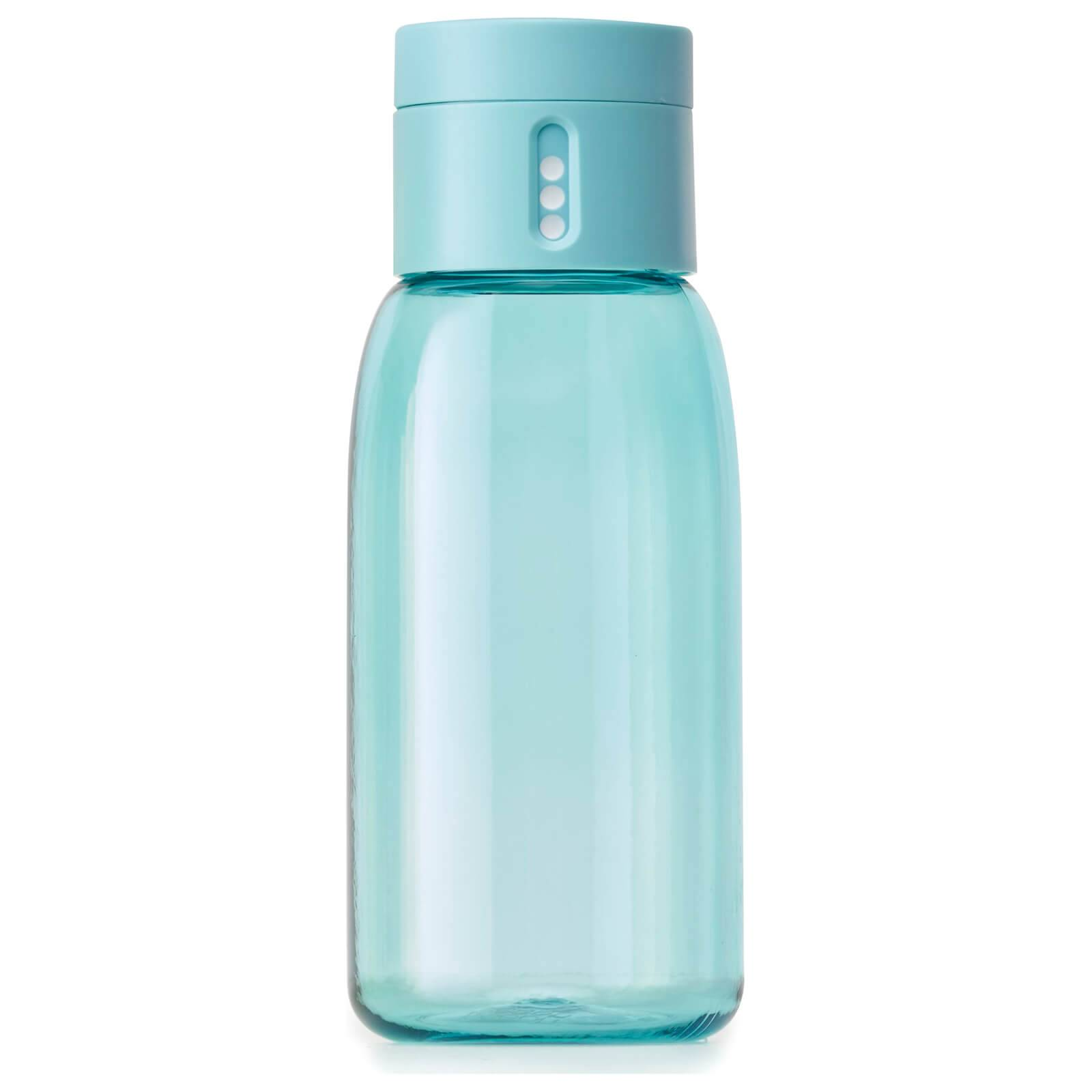 Joseph Joseph Dot Hydration-Tracking Water Bottle - Turquoise 400ml