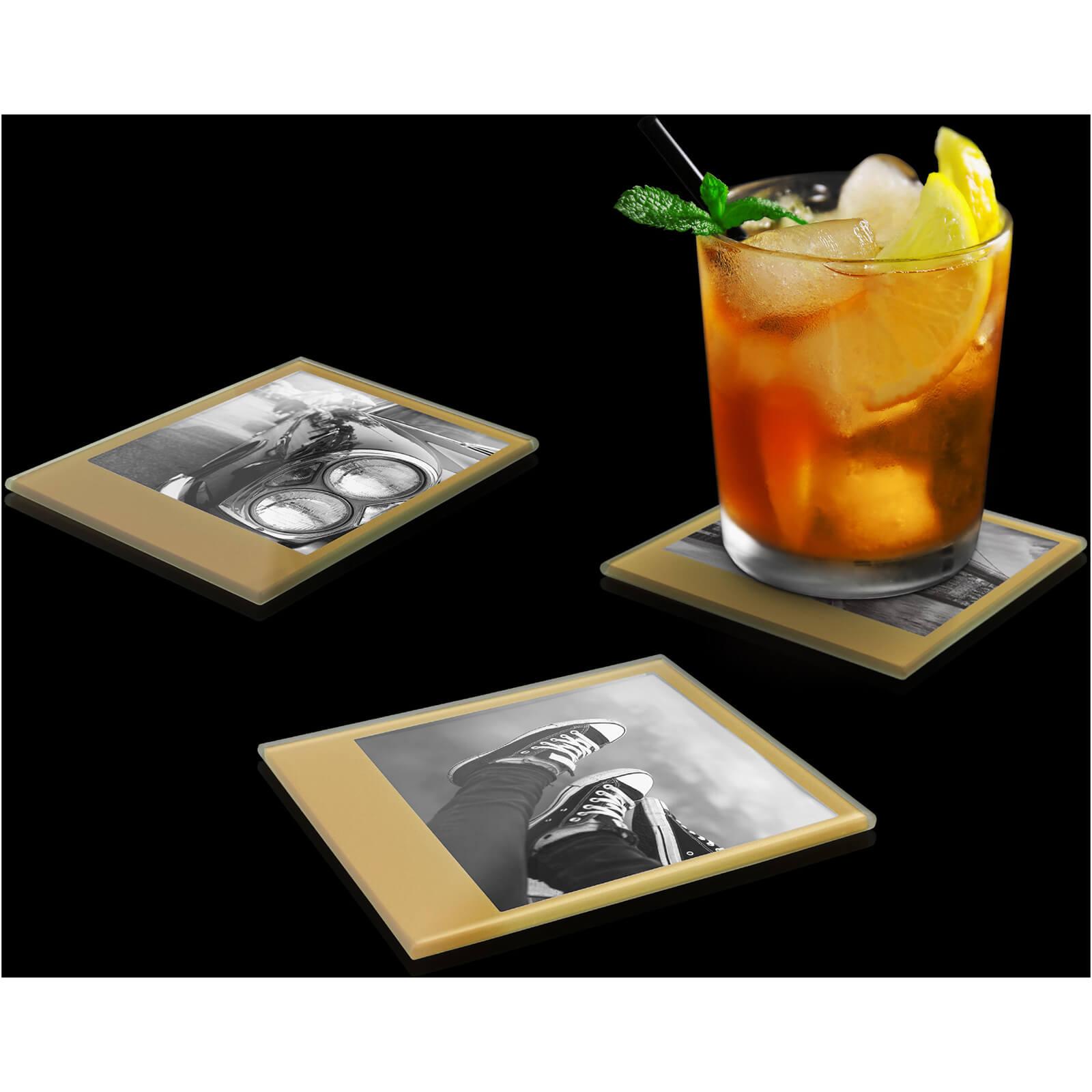 Mustard Photo Coasters – Retro Gold