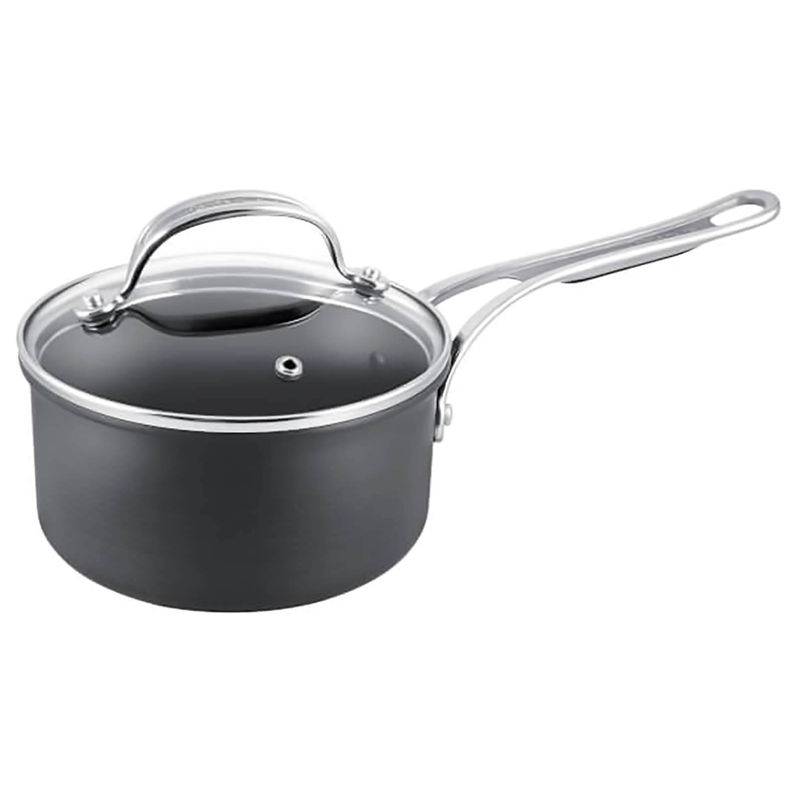 Tefal Jamie Oliver by Tefal Hard Anodised Non-Stick Saucepan with Lid - 20cm