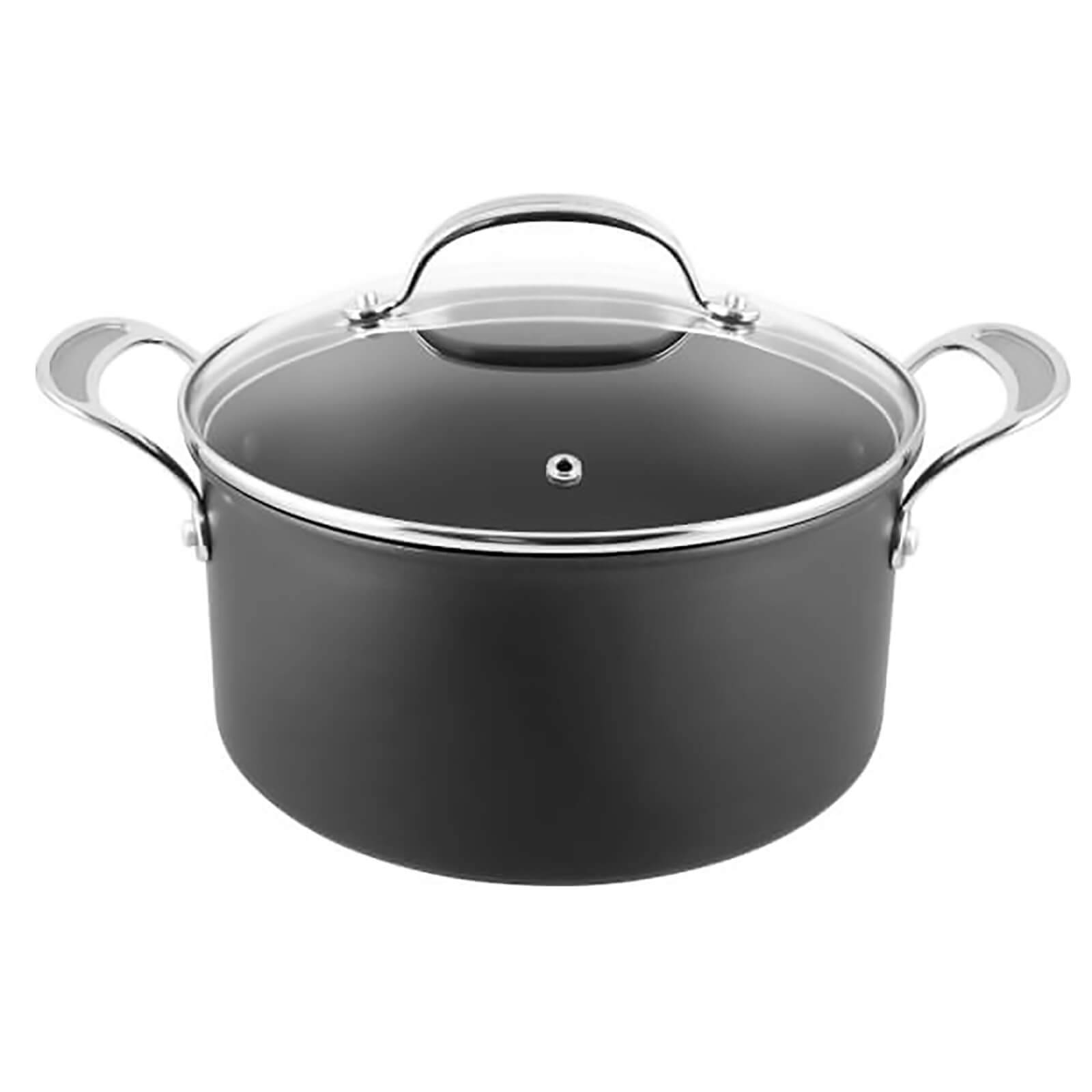 Tefal Jamie Oliver by Tefal Hard Anodised Non-Stick Stewpot with Lid - 24cm