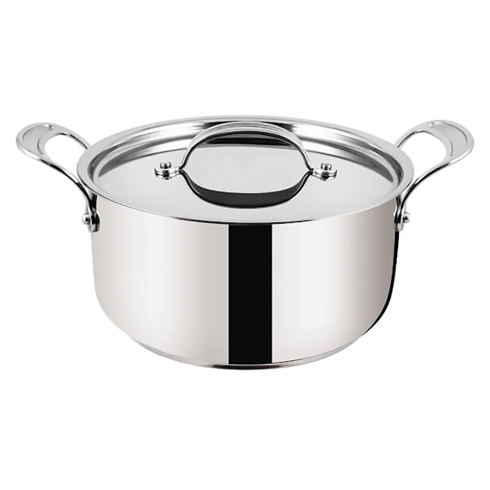Tefal Jamie Oliver by Tefal H8044644 24cm Stainless Steel Non-Stick Stewpot With Lid - 24cm
