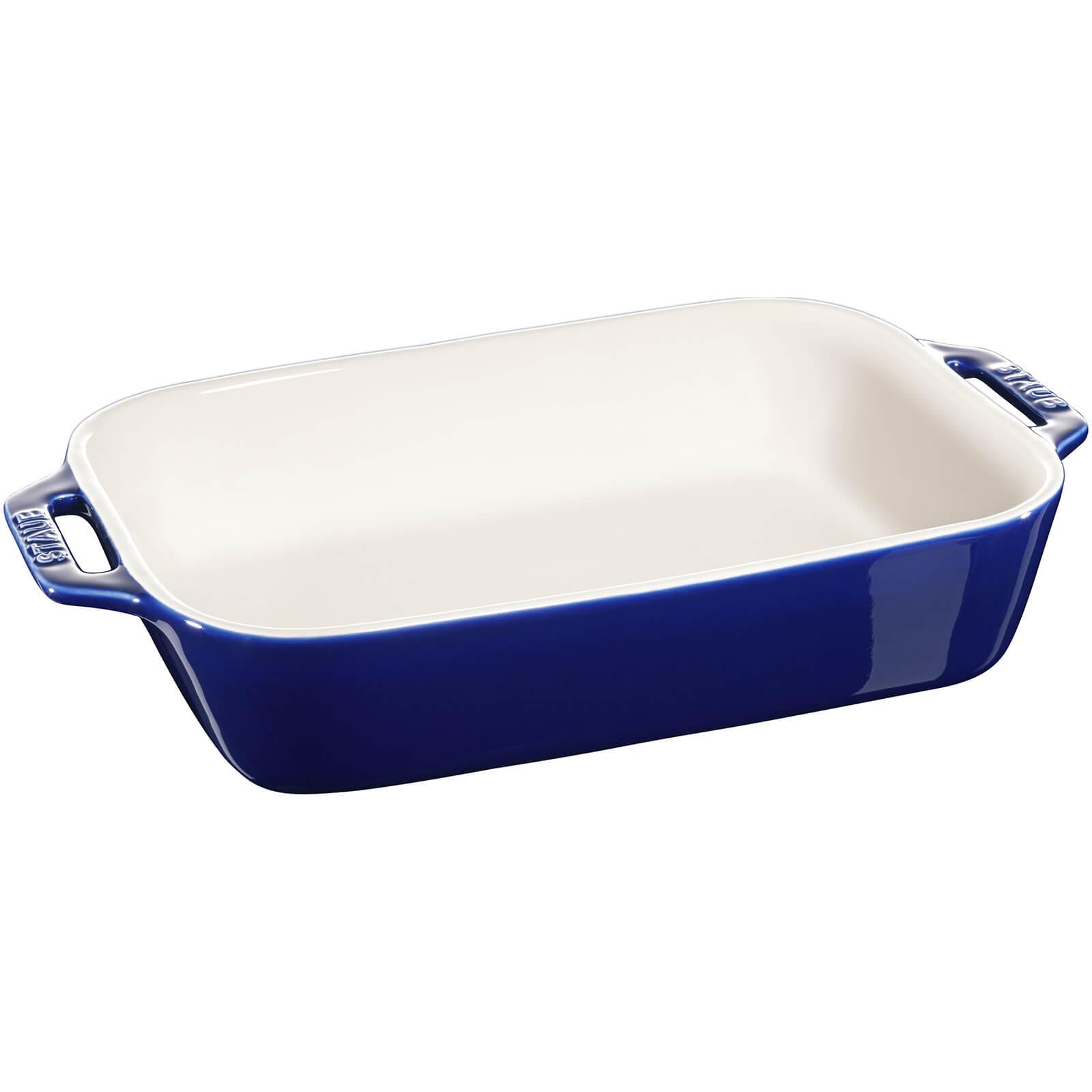 Staub Ceramic Rectangular Gratin Dish - 27cm x 20cm Dark Blue